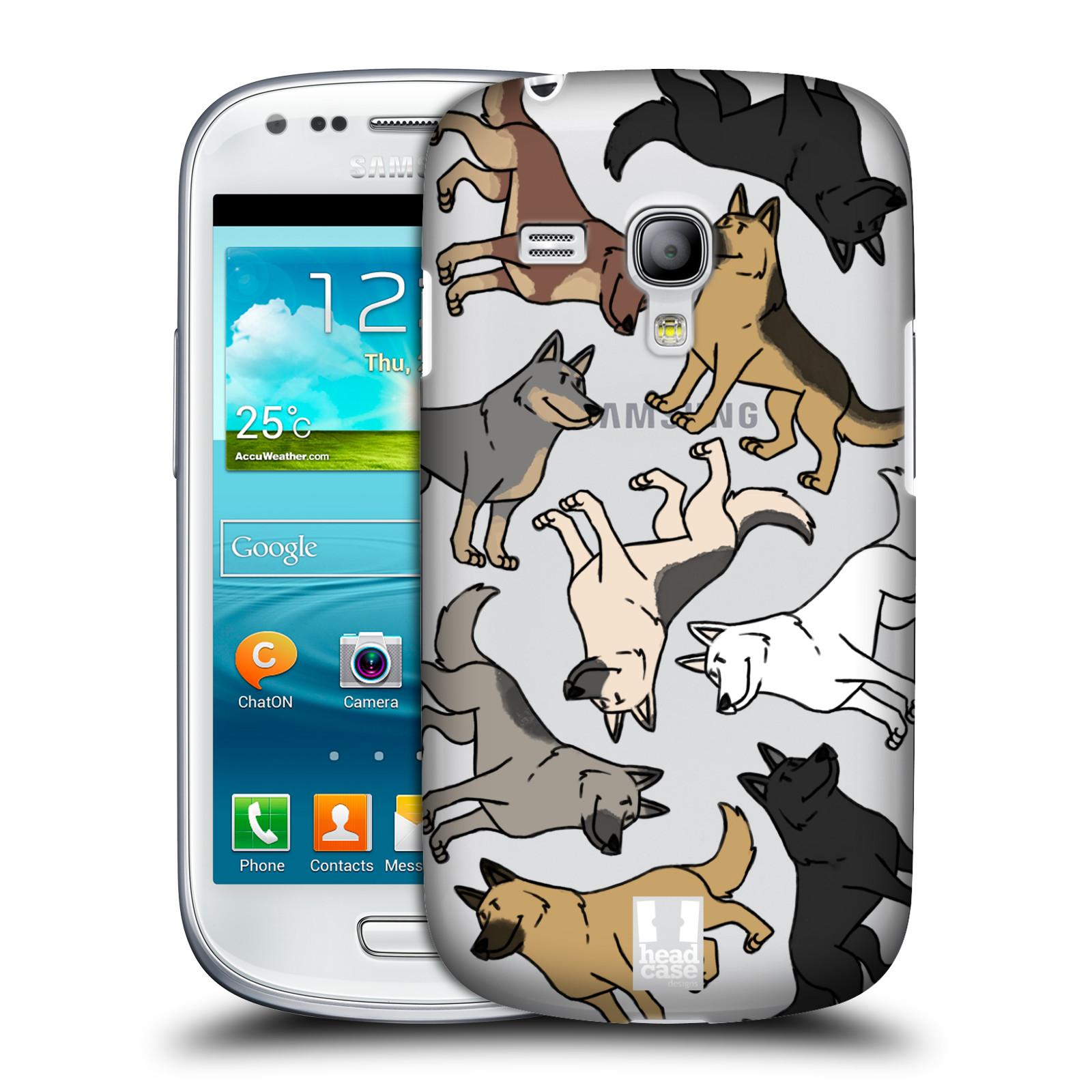 Silikonové pouzdro na mobil Samsung Galaxy S III Mini VE Head Case - Něměcký ovčák (Plastový kryt či obal na mobilní telefon s motivem německých ovčáků pro Samsung Galaxy S3 Mini VE GT-i8200)