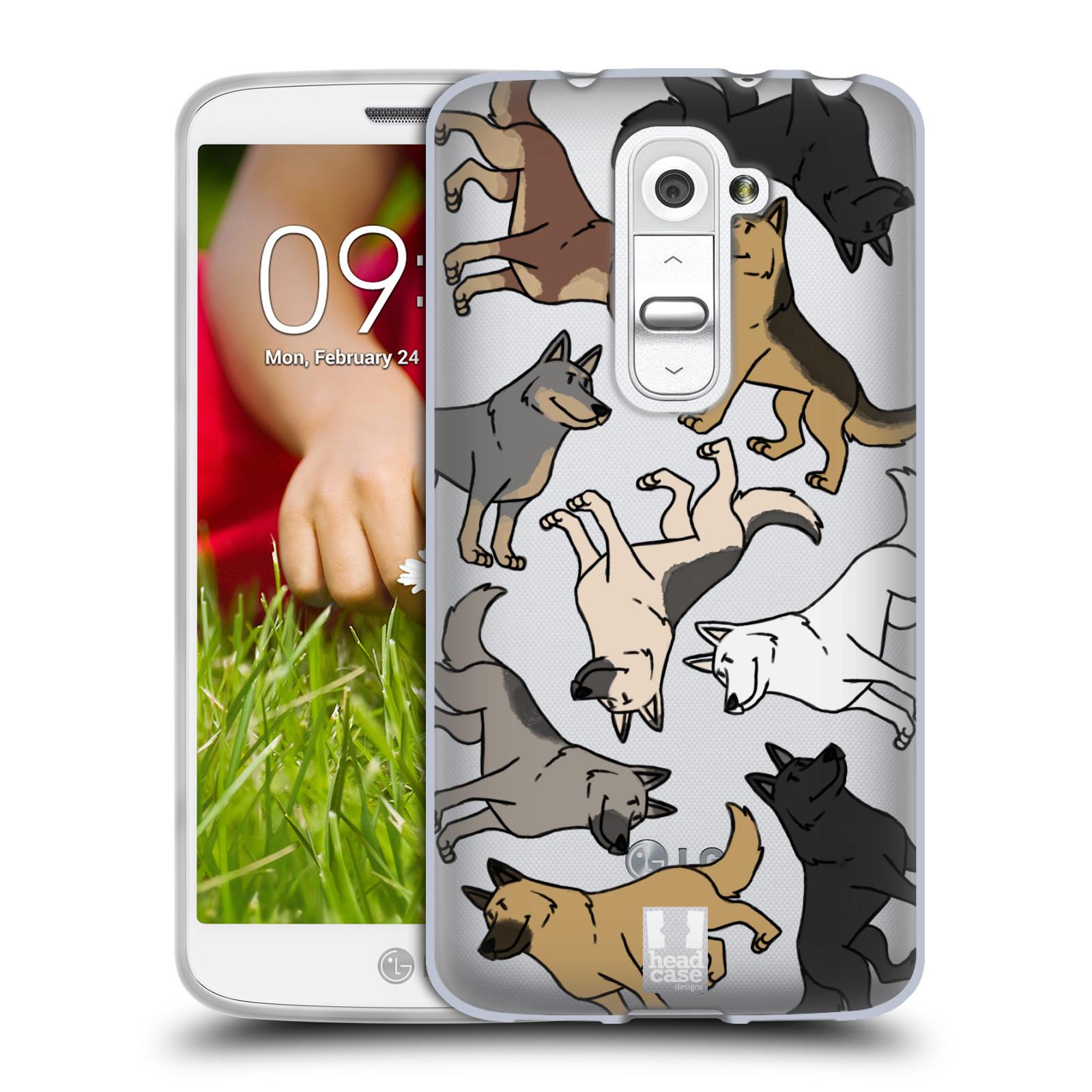 Silikonové pouzdro na mobil LG G2 Mini Head Case - Něměcký ovčák (Silikonový kryt či obal na mobilní telefon s motivem německých ovčáků pro LG G2 Mini D620)