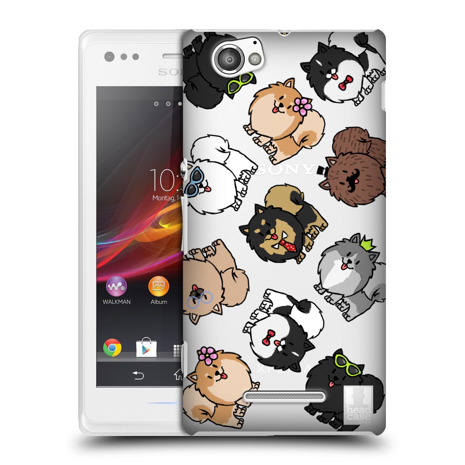 Plastové pouzdro na mobil Sony Xperia M C1905 Head Case - Špic - Pomeranian (Plastový kryt či obal na mobilní telefon s motivem špice pro Sony Xperia M )