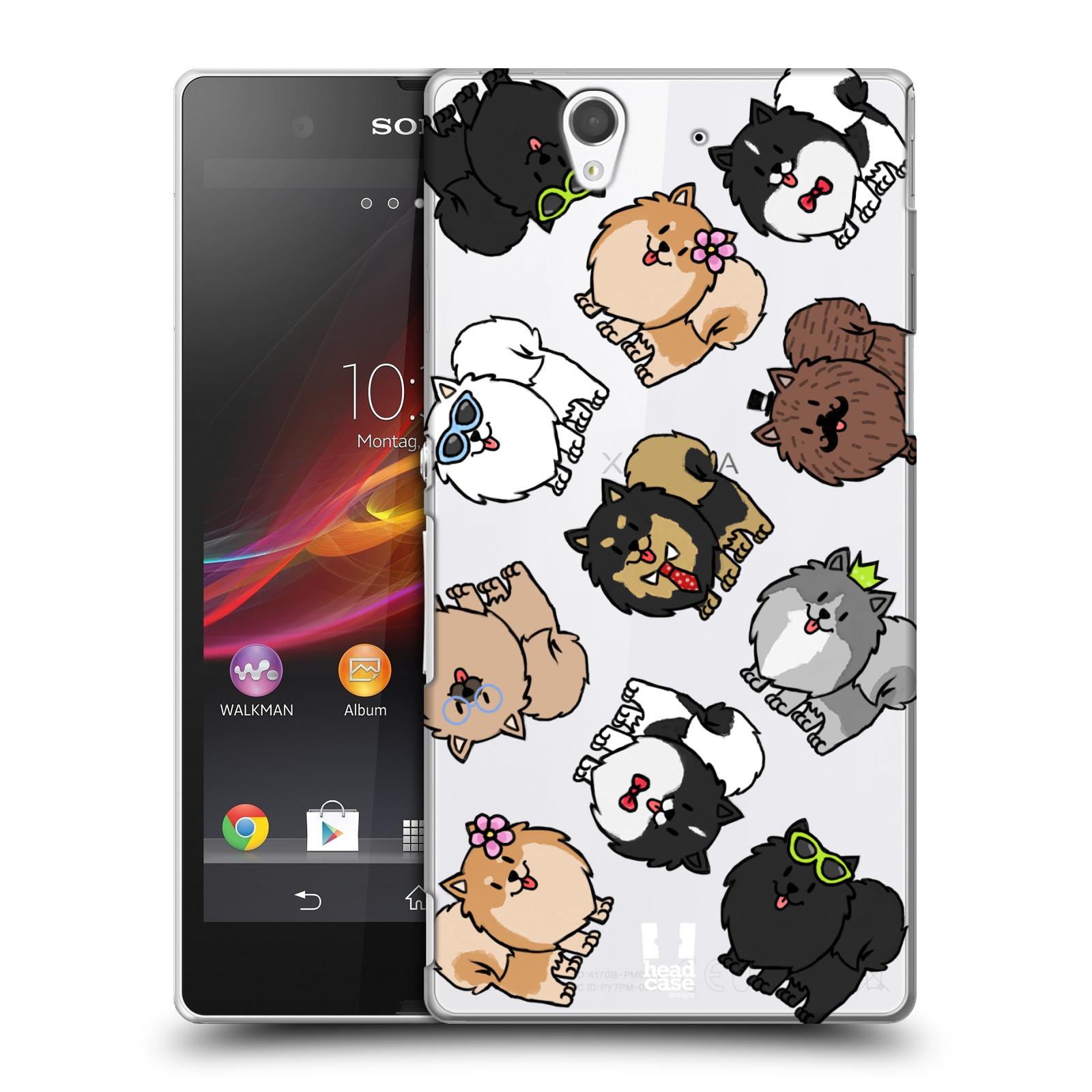 Plastové pouzdro na mobil Sony Xperia Z C6603 Head Case - Špic - Pomeranian (Plastový kryt či obal na mobilní telefon s motivem špice pro Sony Xperia Z)