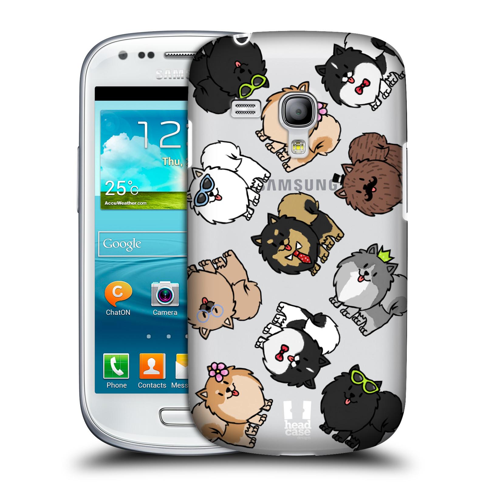 Silikonové pouzdro na mobil Samsung Galaxy S III Mini VE Head Case - Špic - Pomeranian (Plastový kryt či obal na mobilní telefon s motivem špice pro Samsung Galaxy S3 Mini VE GT-i8200)