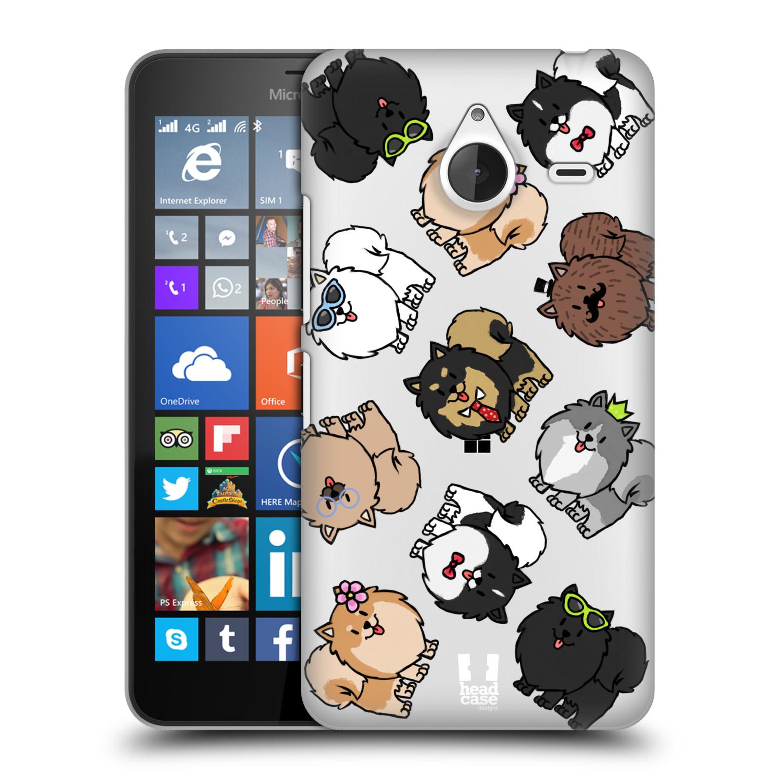 Plastové pouzdro na mobil Microsoft Lumia 640 XL Head Case - Špic - Pomeranian (Plastový kryt či obal na mobilní telefon s motivem špice pro Microsoft Lumia 640 XL)