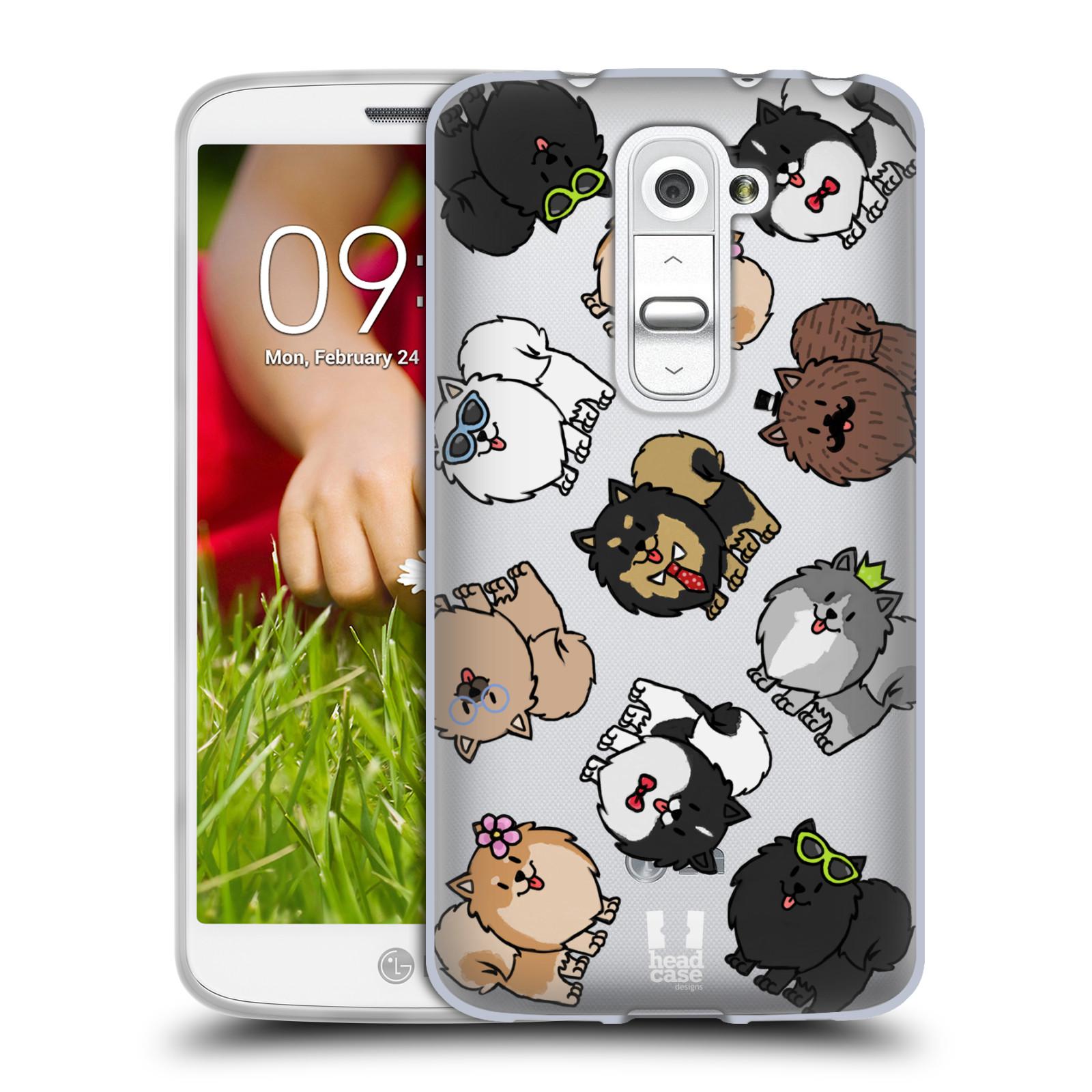 Silikonové pouzdro na mobil LG G2 Mini Head Case - Špic - Pomeranian (Silikonový kryt či obal na mobilní telefon s motivem špice pro LG G2 Mini D620)