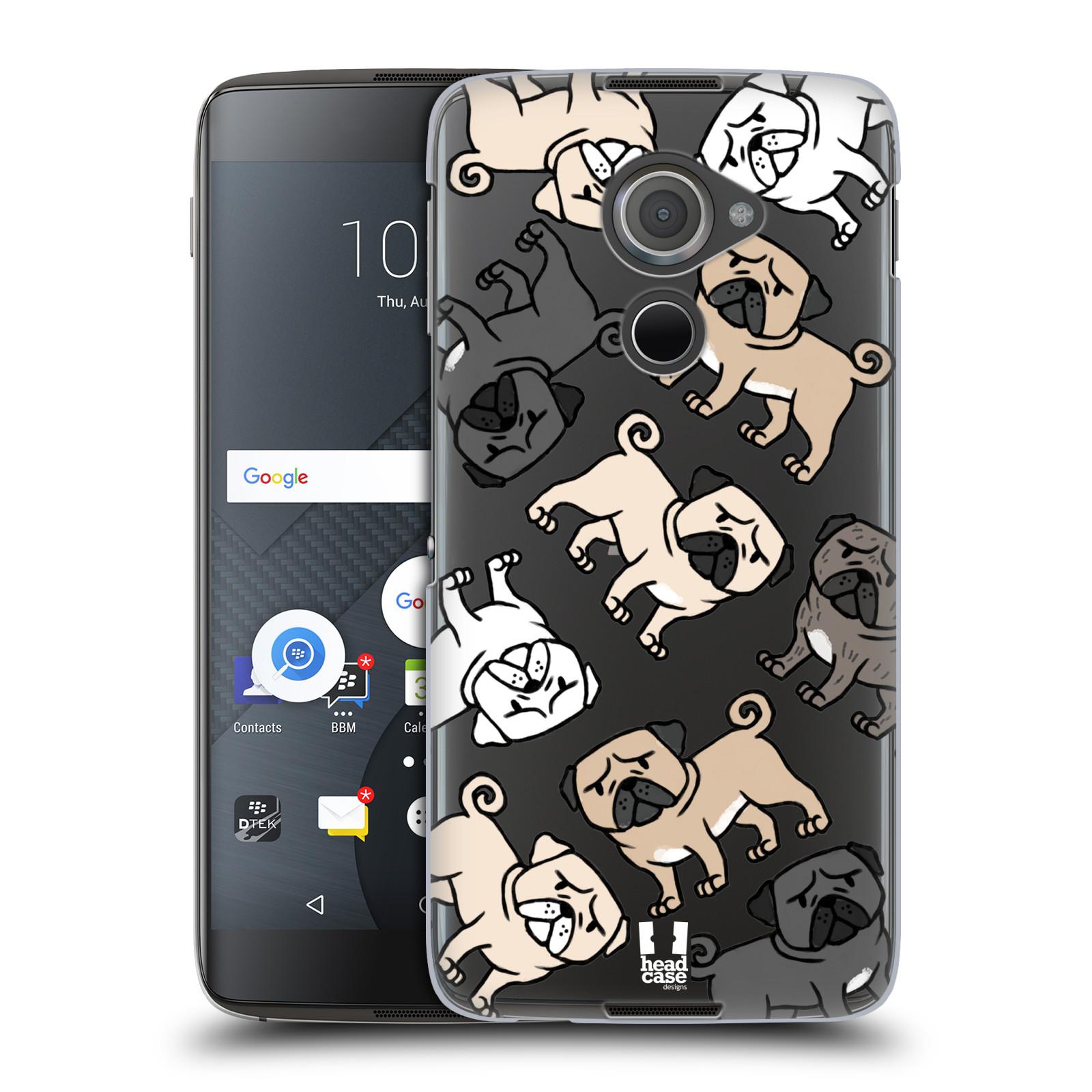 Plastové pouzdro na mobil Blackberry DTEK60 (Argon) - Head Case - Mopsíci (Plastový kryt či obal na mobilní telefon s motivem mopsíků pro Blackberry DTEK60 (Argon))