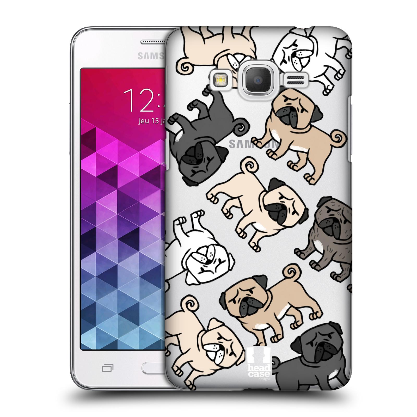 Plastové pouzdro na mobil Samsung Galaxy Grand Prime Head Case - Mopsíci