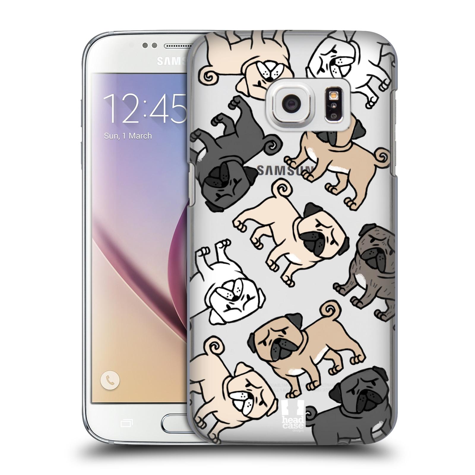 Plastové pouzdro na mobil Samsung Galaxy S7 Head Case - Mopsíci (Plastový kryt či obal na mobilní telefon s motivem mopsíků pro Samsung Galaxy S7 SM-G930F)