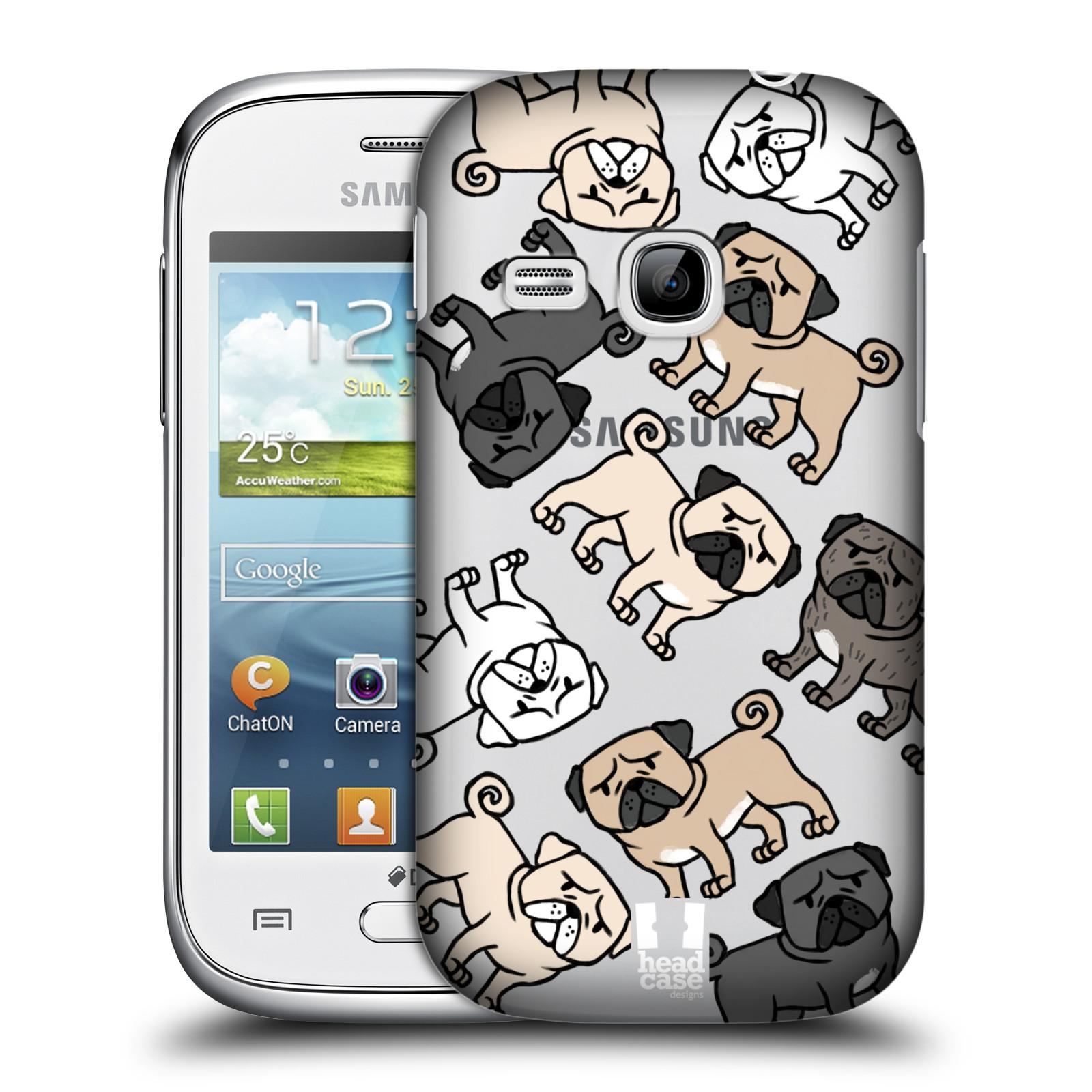 Plastové pouzdro na mobil Samsung Galaxy Young Head Case - Mopsíci