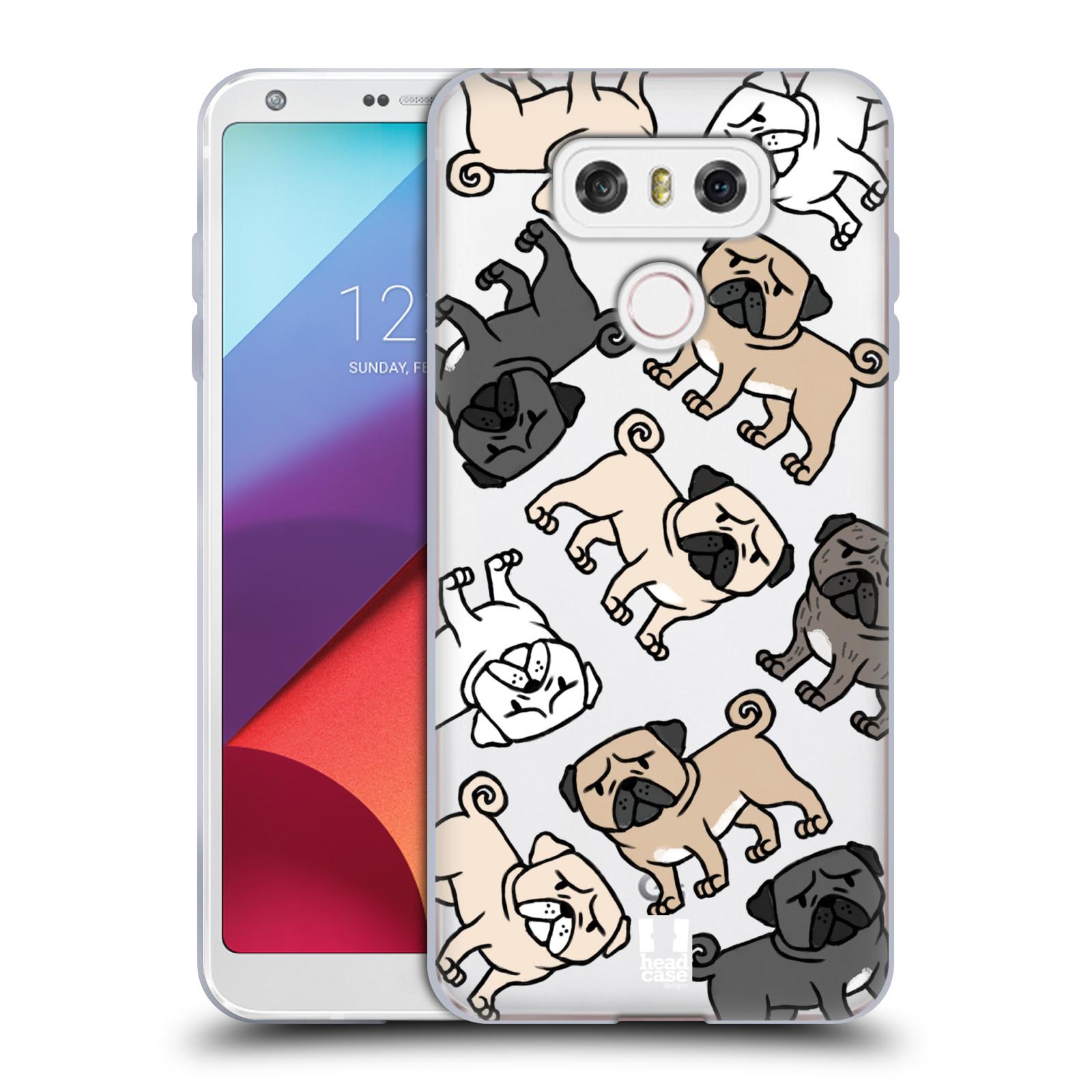 Silikonové pouzdro na mobil LG G6 - Head Case - Mopsíci (Silikonový kryt či obal na mobilní telefon s motivem mopsíků pro LG G6 H870 / LG G6 Dual SIM H870DS)
