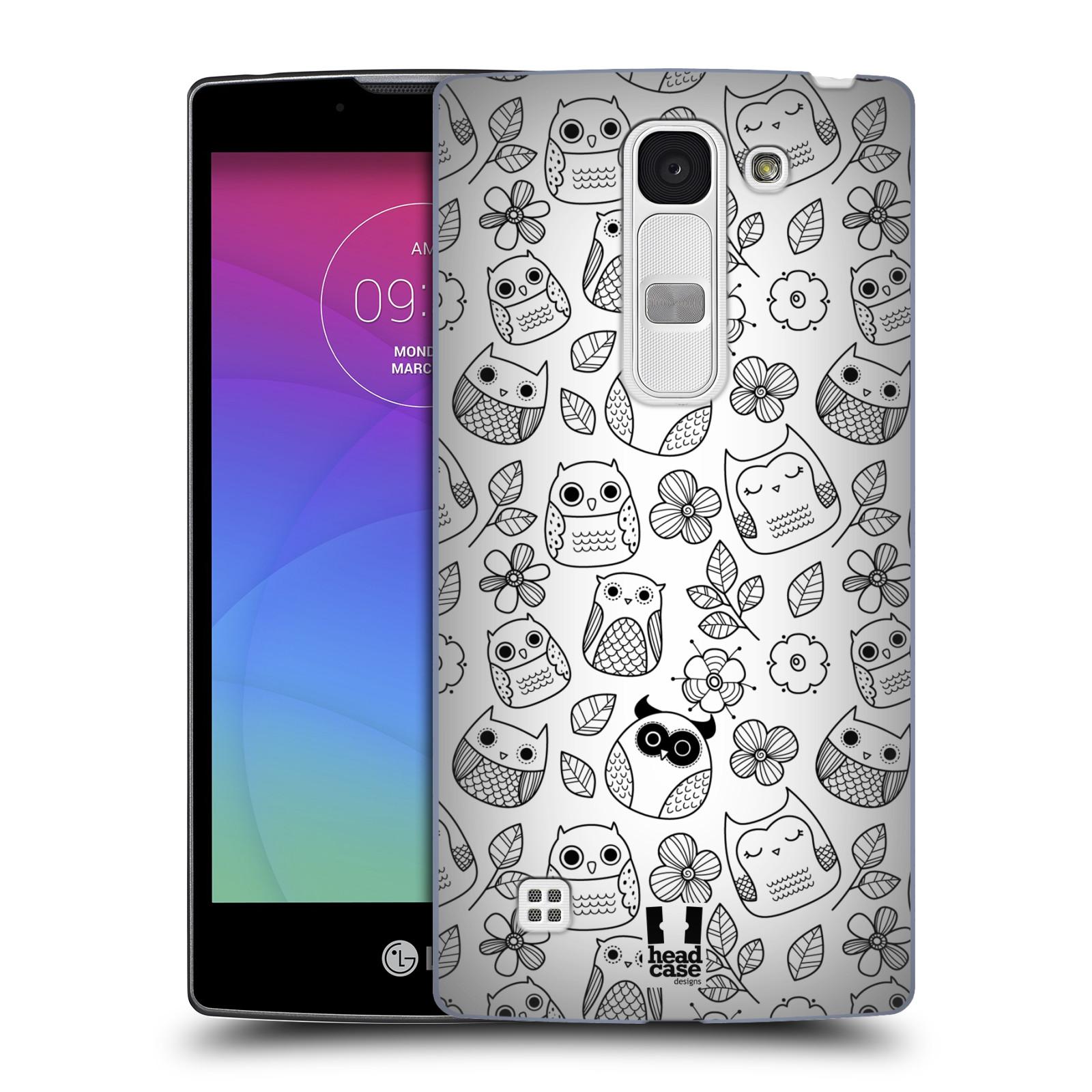 Plastové pouzdro na mobil LG Spirit LTE HEAD CASE SOVIČKY A KYTIČKY (Kryt či obal na mobilní telefon LG Spirit H420 a LG Spirit LTE H440N)