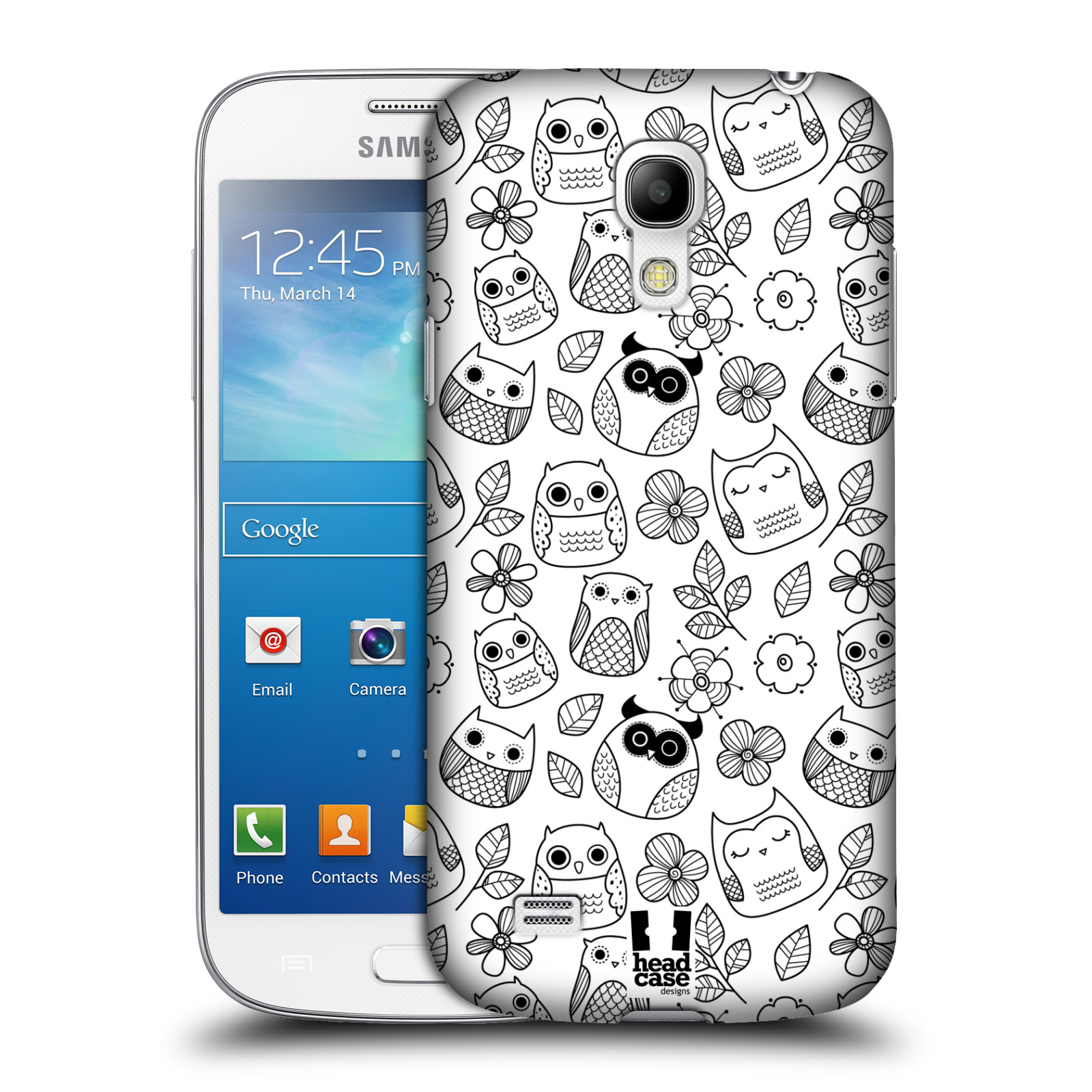 Plastové pouzdro na mobil Samsung Galaxy S4 Mini VE HEAD CASE SOVIČKY A KYTIČKY (Kryt či obal na mobilní telefon Samsung Galaxy S4 Mini VE GT-i9195i (nepasuje na verzi Black Edition))