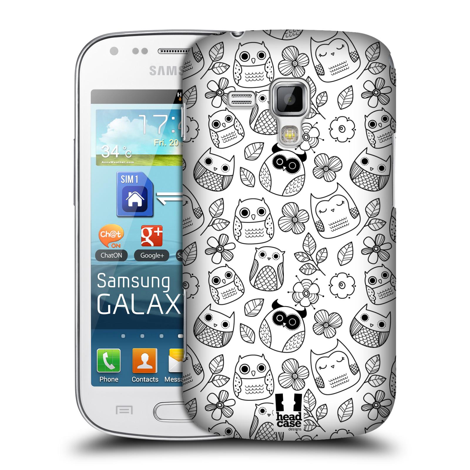 Plastové pouzdro na mobil Samsung Galaxy Trend Plus HEAD CASE SOVIČKY A KYTIČKY
