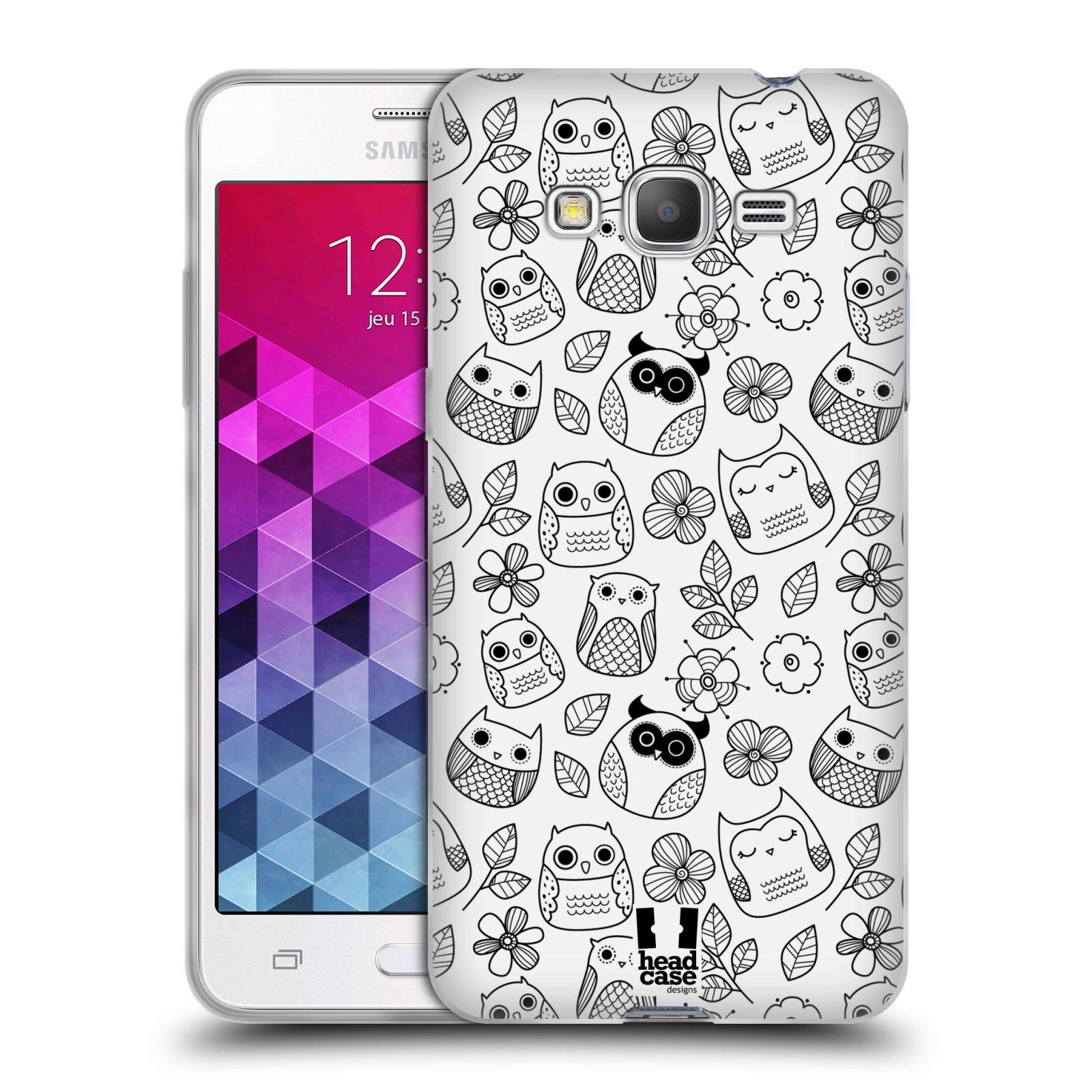 Silikonové pouzdro na mobil Samsung Galaxy Grand Prime HEAD CASE SOVIČKY A KYTIČKY