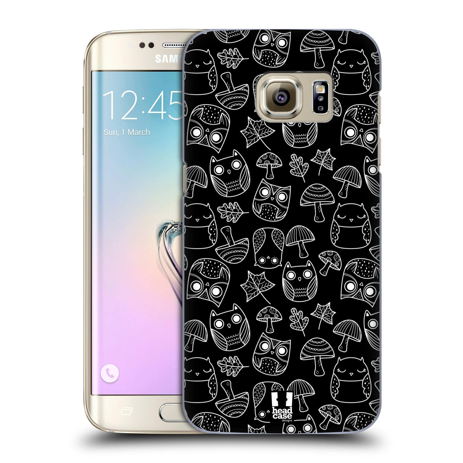 Plastové pouzdro na mobil Samsung Galaxy S7 Edge HEAD CASE SOVIČKY A HOUBIČKY (Kryt či obal na mobilní telefon Samsung Galaxy S7 Edge SM-G935F)