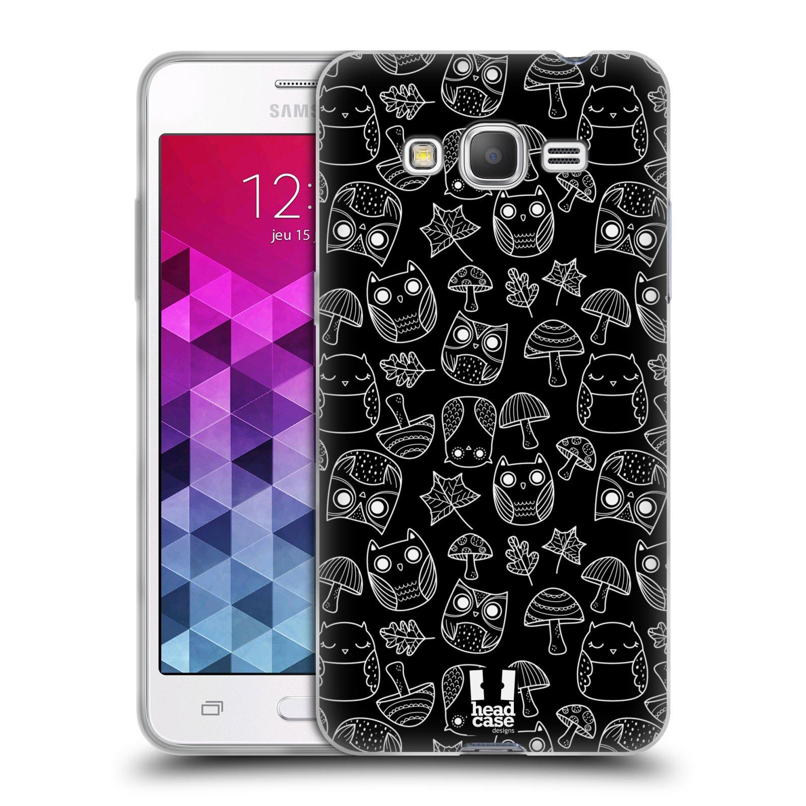 Silikonové pouzdro na mobil Samsung Galaxy Grand Prime HEAD CASE SOVIČKY A HOUBIČKY