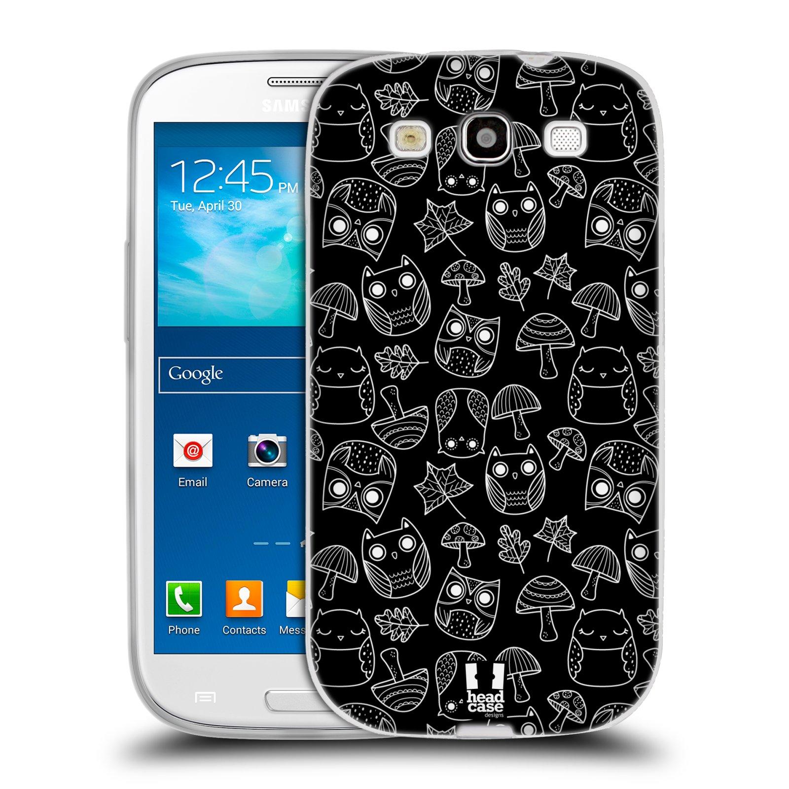 Silikonové pouzdro na mobil Samsung Galaxy S3 Neo HEAD CASE SOVIČKY A HOUBIČKY