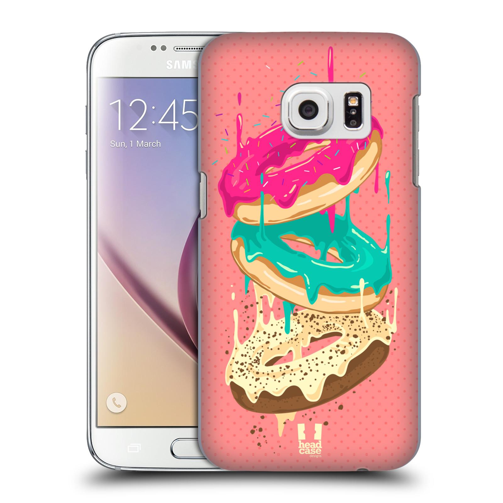 Plastové pouzdro na mobil Samsung Galaxy S7 HEAD CASE DONUTKY PADAJÍCÍ