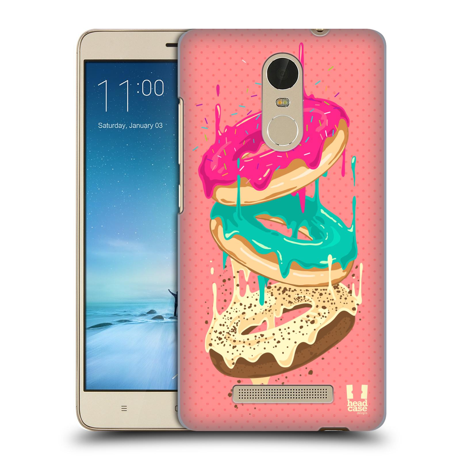 """Plastové pouzdro na mobil Xiaomi Redmi Note 3 HEAD CASE DONUTKY PADAJÍCÍ (Kryt či obal na mobilní telefon Xiaomi Redmi Note 3 s 5,5"""" displejem)"""