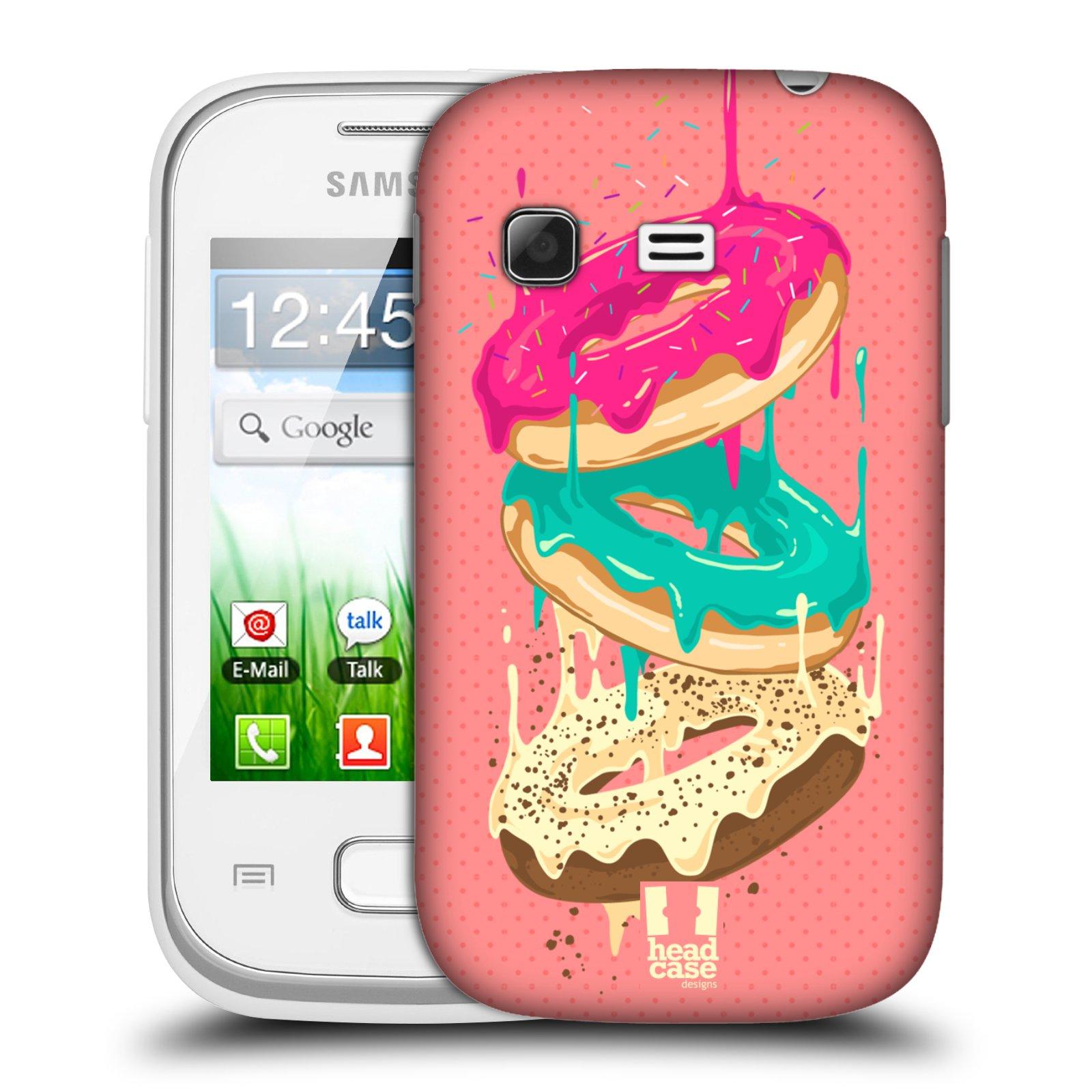 Plastové pouzdro na mobil Samsung Galaxy Pocket HEAD CASE DONUTKY PADAJÍCÍ (Kryt či obal na mobilní telefon Samsung Galaxy Pocket GT-S5300)