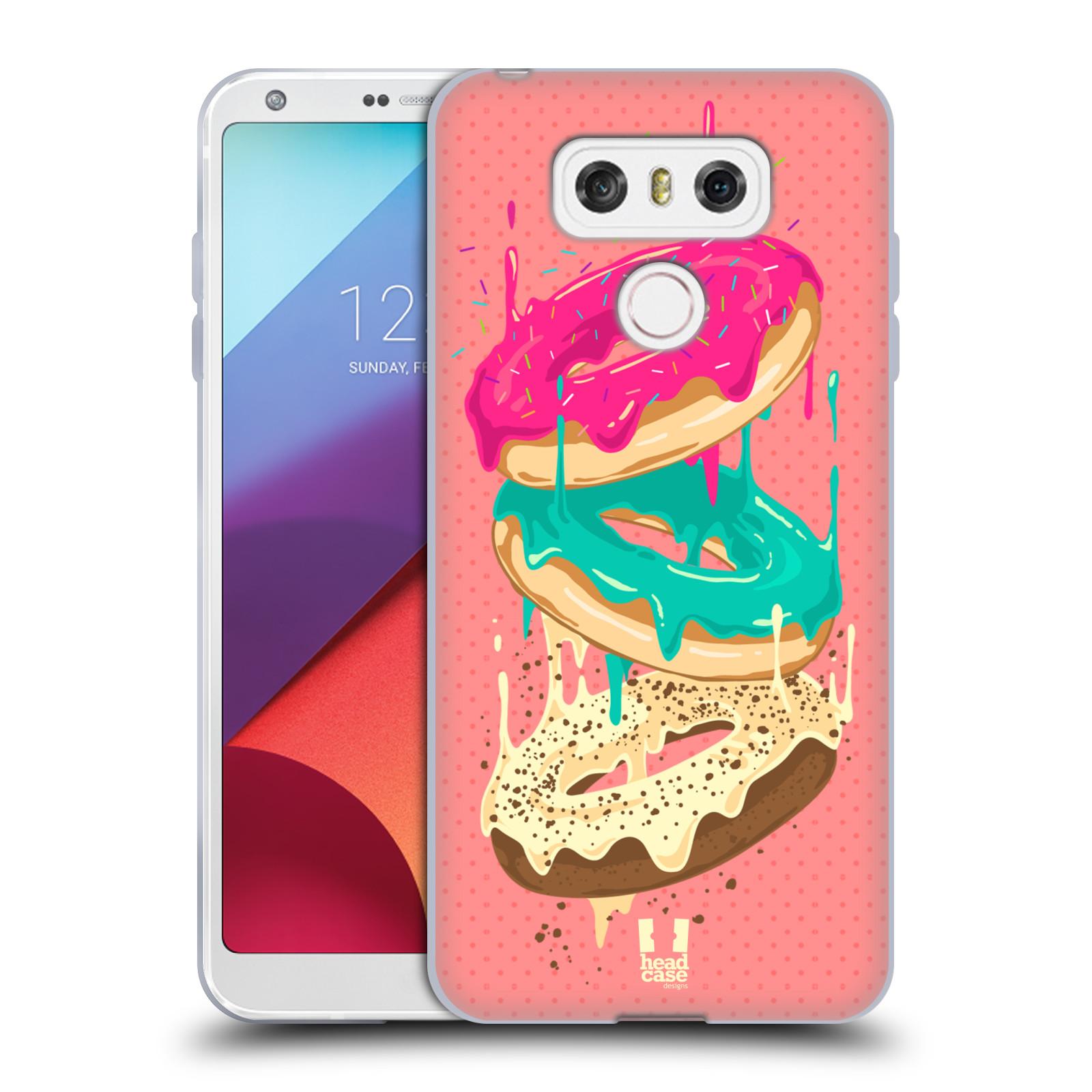 Silikonové pouzdro na mobil LG G6 - Head Case DONUTKY PADAJÍCÍ (Silikonový kryt či obal na mobilní telefon LG G6 H870 / LG G6 Dual SIM H870DS)