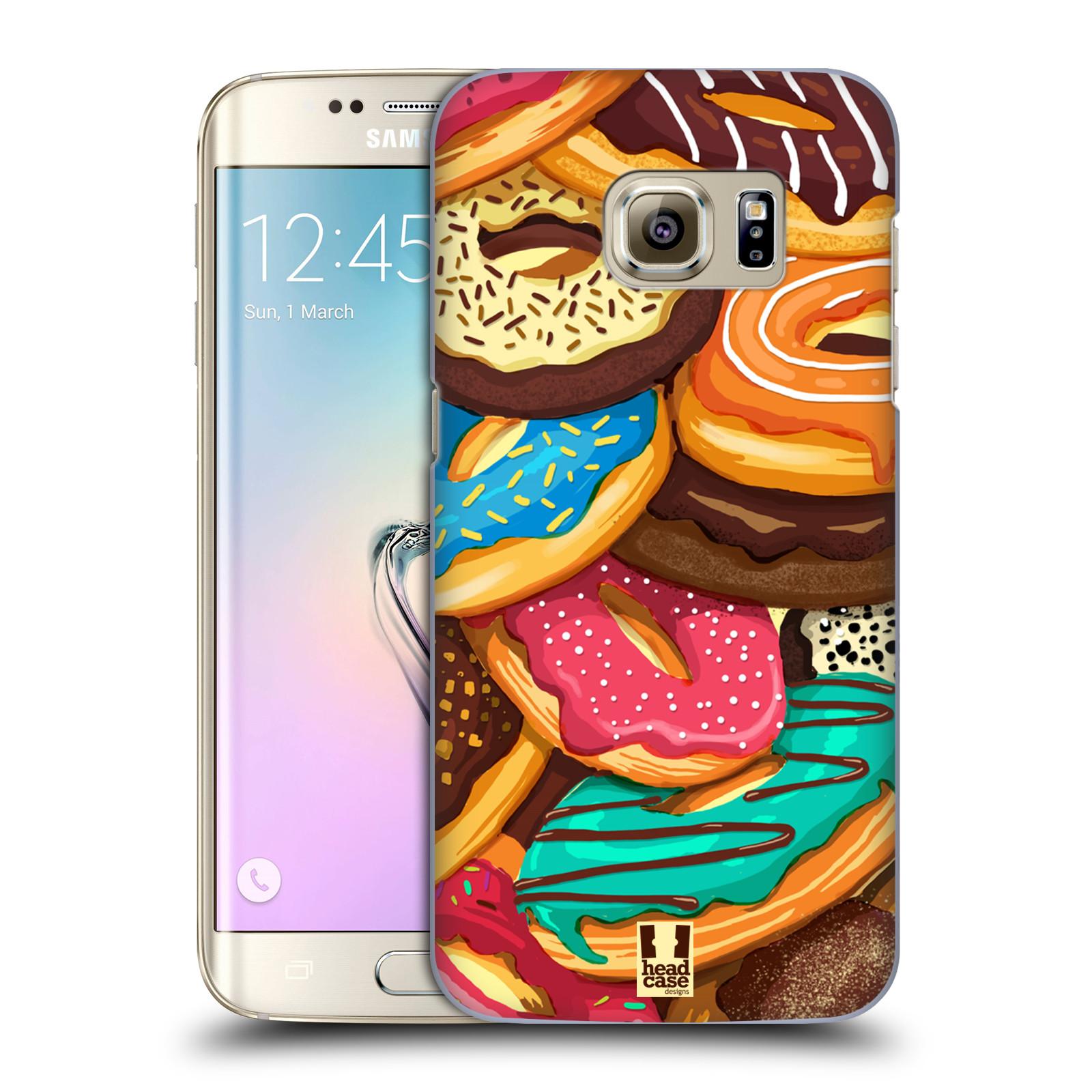 Plastové pouzdro na mobil Samsung Galaxy S7 Edge HEAD CASE DONUTKY VŠUDE (Kryt či obal na mobilní telefon Samsung Galaxy S7 Edge SM-G935F)