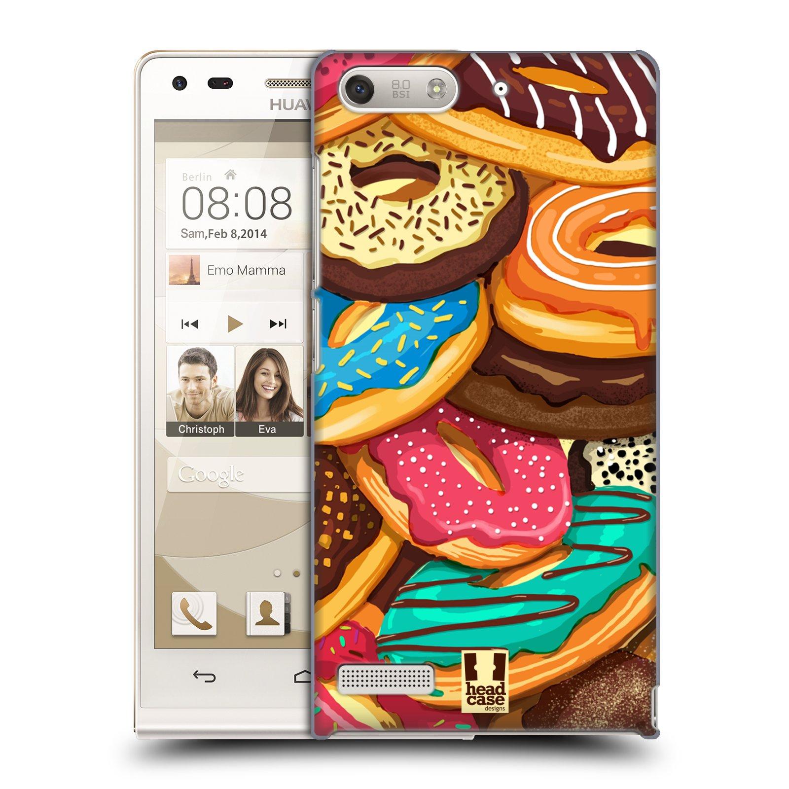Plastové pouzdro na mobil Huawei Ascend G6 HEAD CASE DONUTKY VŠUDE (Kryt či obal na mobilní telefon Huawei Ascend G6 bez LTE)