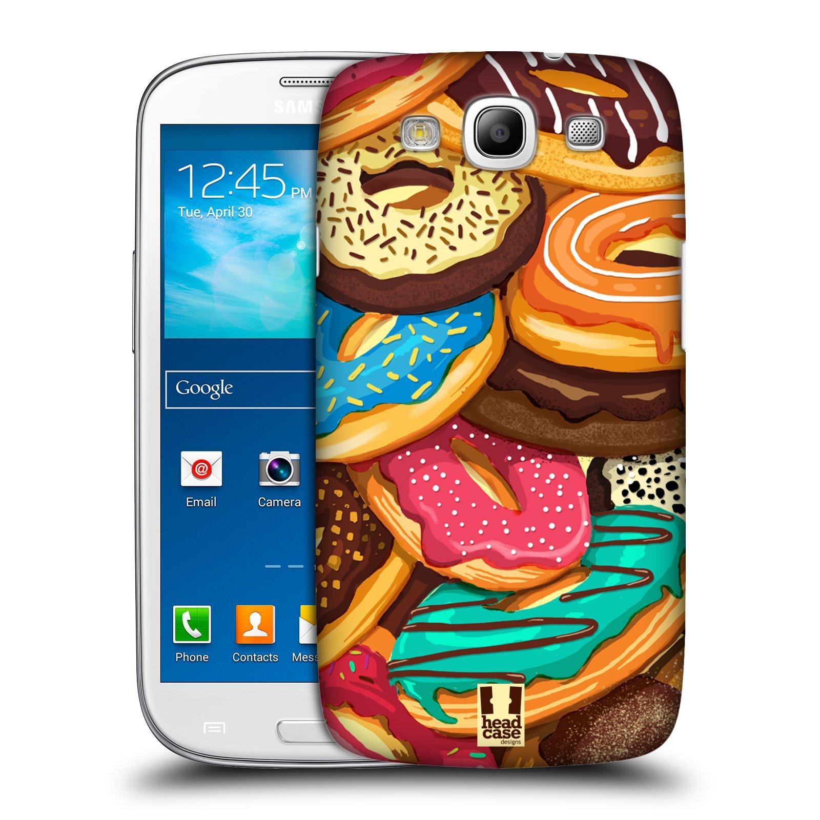 Plastové pouzdro na mobil Samsung Galaxy S3 Neo HEAD CASE DONUTKY VŠUDE