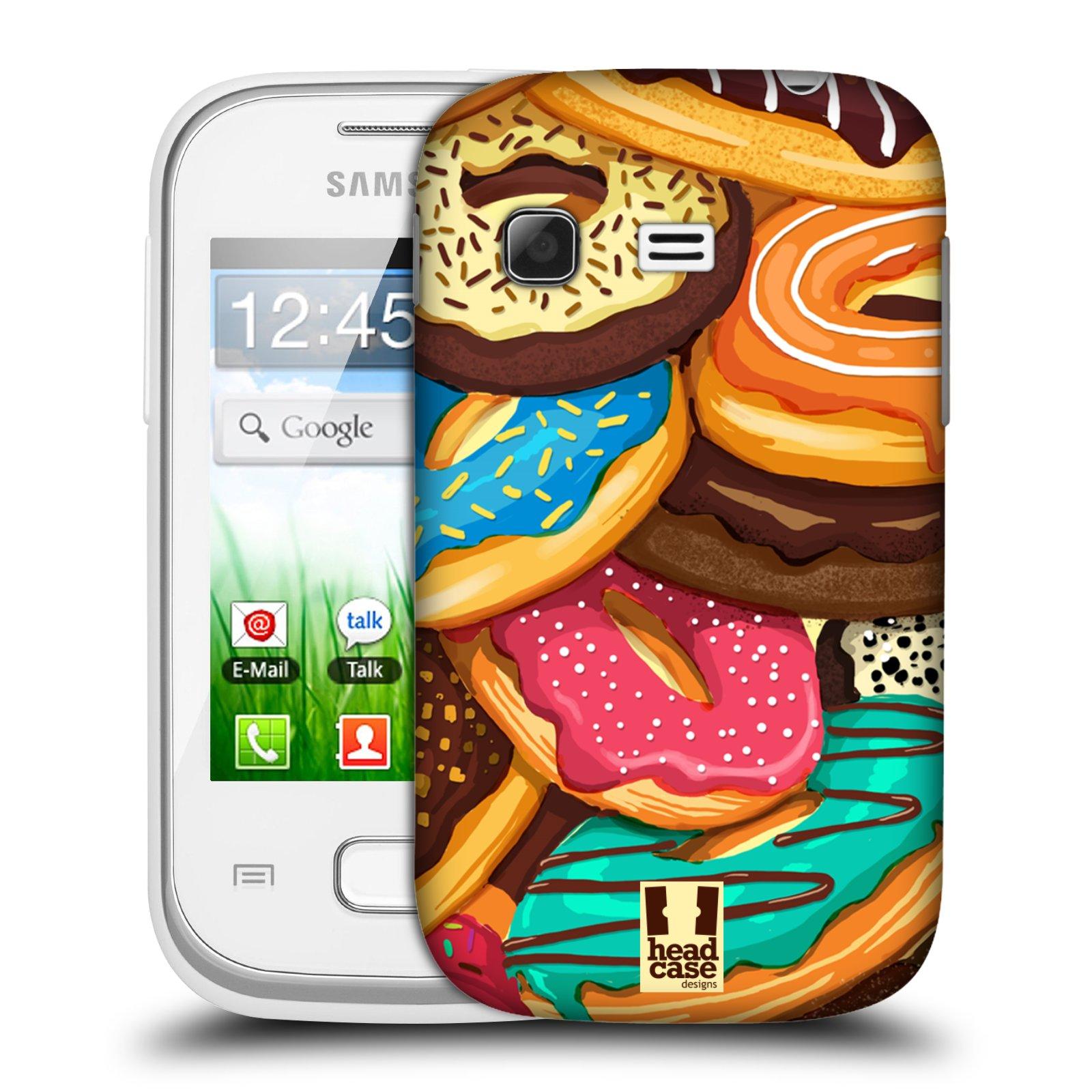 Plastové pouzdro na mobil Samsung Galaxy Pocket HEAD CASE DONUTKY VŠUDE (Kryt či obal na mobilní telefon Samsung Galaxy Pocket GT-S5300)