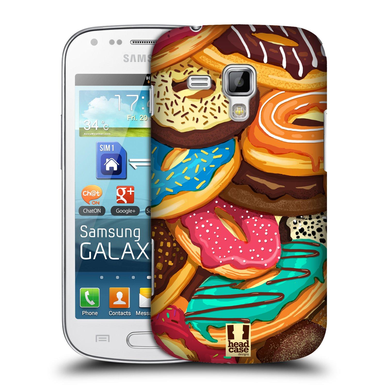 Plastové pouzdro na mobil Samsung Galaxy Trend Plus HEAD CASE DONUTKY VŠUDE