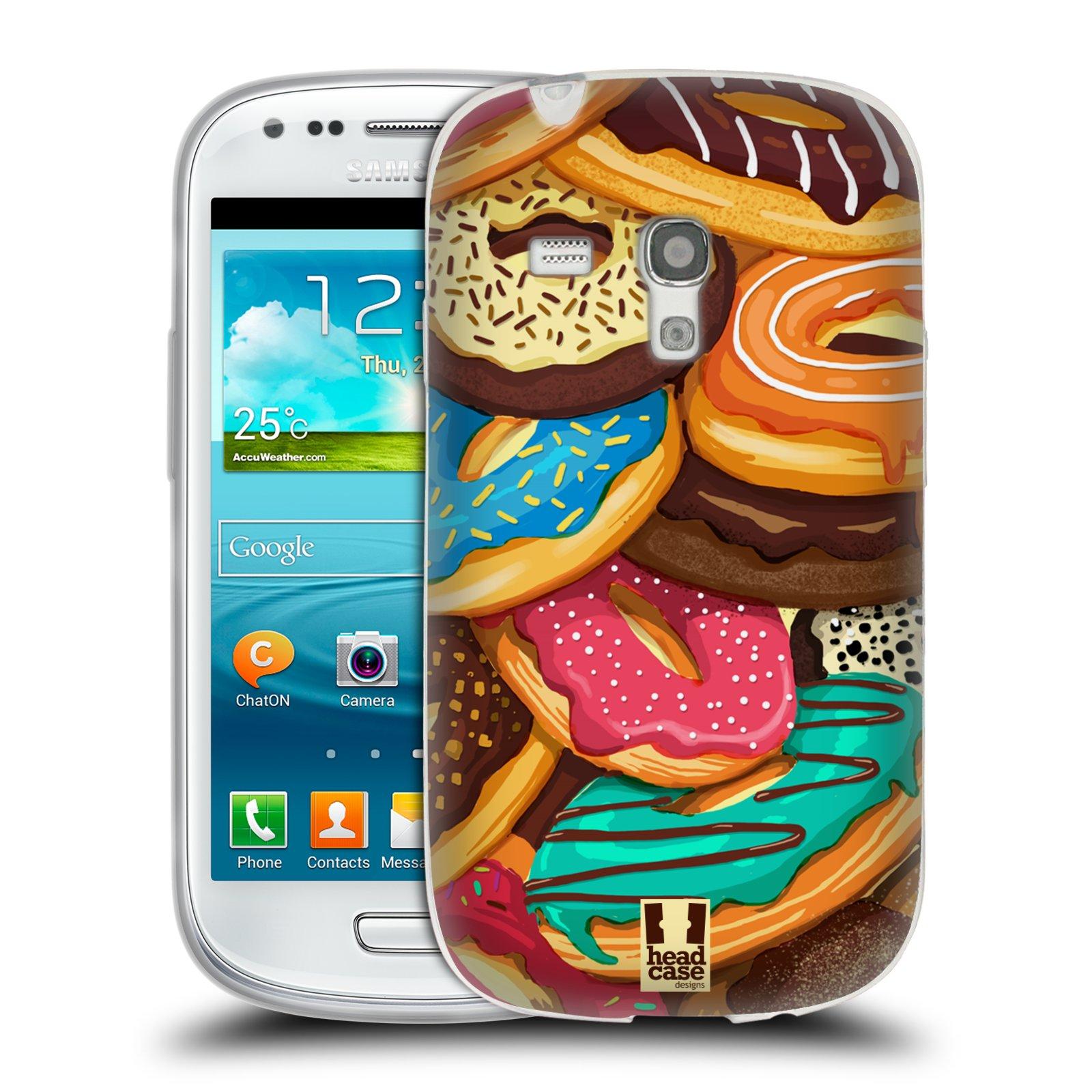 Silikonové pouzdro na mobil Samsung Galaxy S III Mini HEAD CASE DONUTKY VŠUDE (Silikonový kryt či obal na mobilní telefon Samsung Galaxy S III Mini GT-i8190)