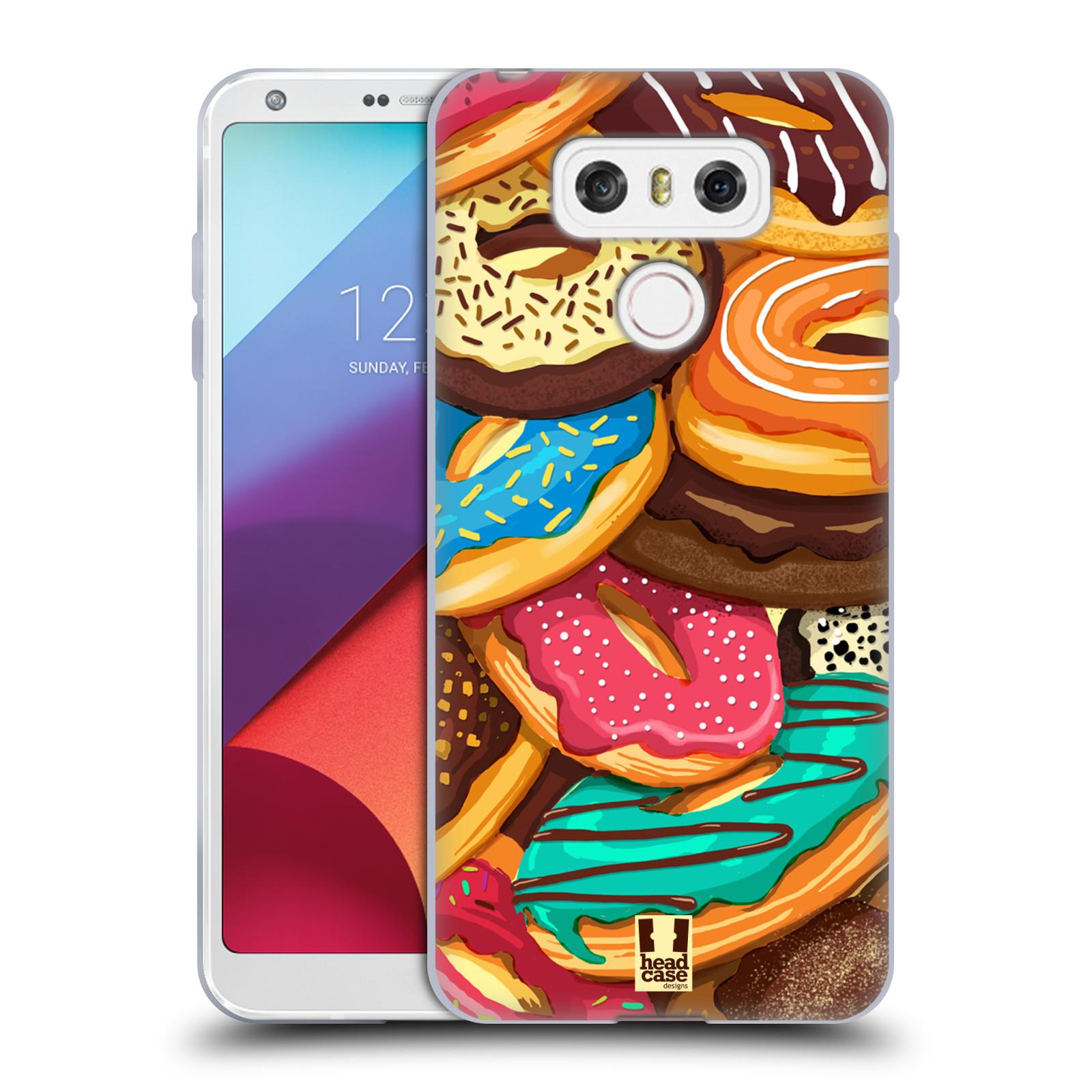 Silikonové pouzdro na mobil LG G6 - Head Case DONUTKY VŠUDE (Silikonový kryt či obal na mobilní telefon LG G6 H870 / LG G6 Dual SIM H870DS)