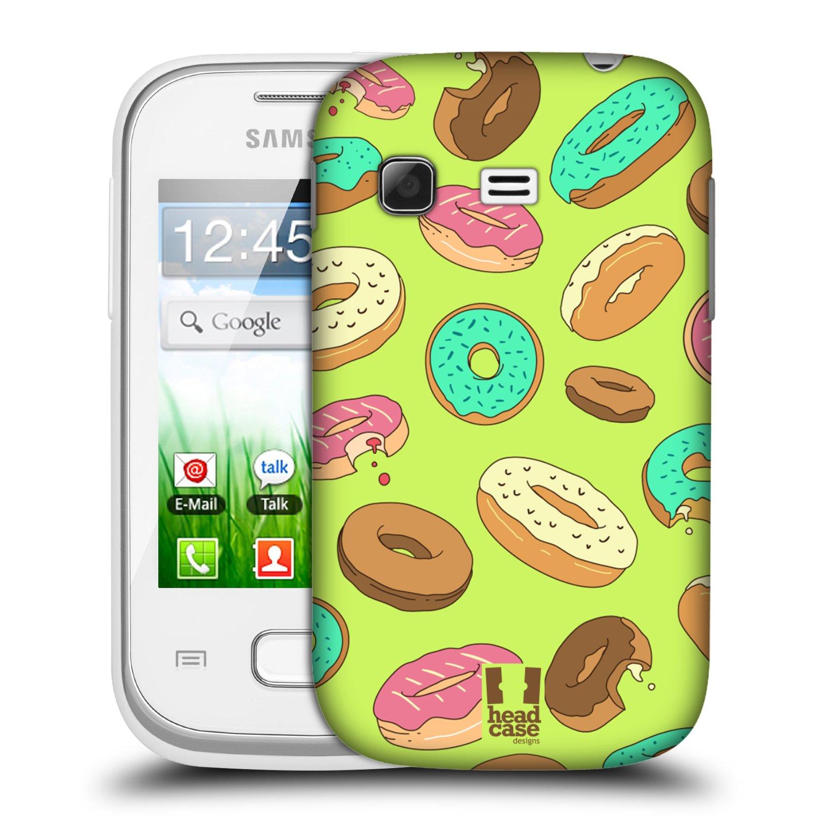 Plastové pouzdro na mobil Samsung Galaxy Pocket HEAD CASE DONUTKY (Kryt či obal na mobilní telefon Samsung Galaxy Pocket GT-S5300)