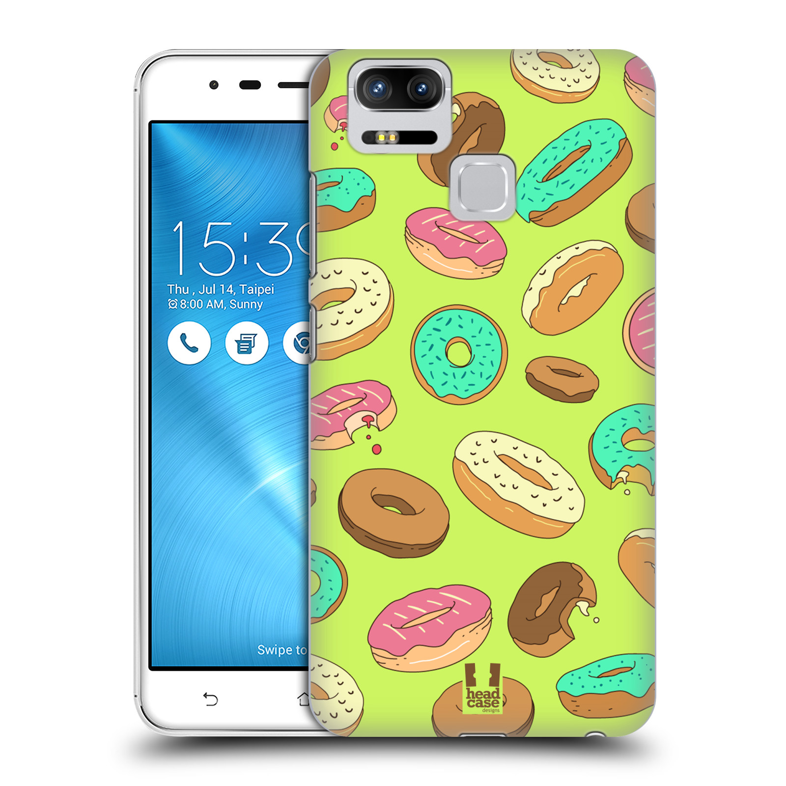 Plastové pouzdro na mobil Asus ZenFone 3 ZOOM ZE553KL - Head Case - DONUTKY (Plastový kryt či obal na mobilní telefon Asus ZenFone 3 ZOOM ZE553KL s motivem DONUTKY )