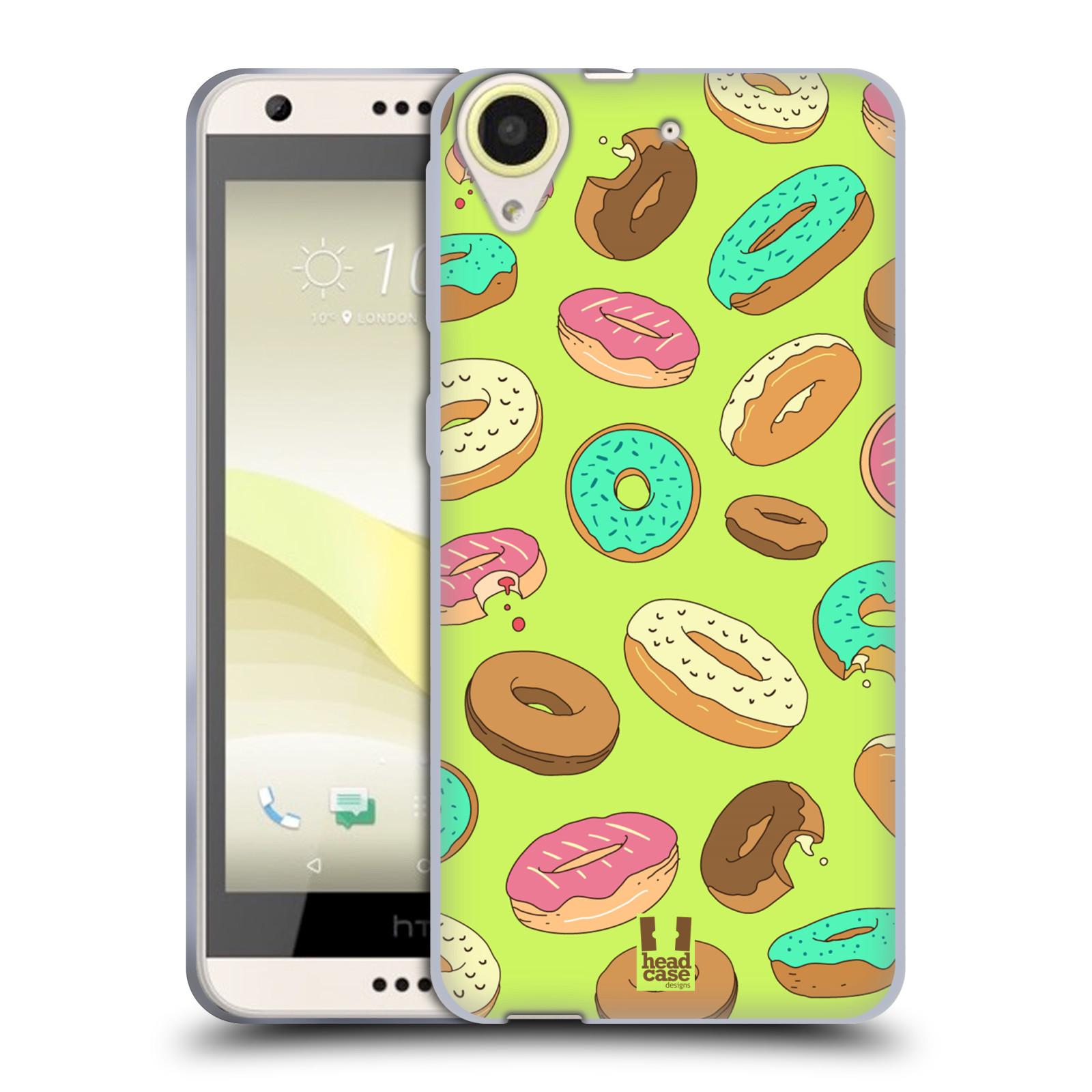 Silikonové pouzdro na mobil HTC Desire 650 HEAD CASE DONUTKY (Silikonový kryt či obal na mobilní telefon HTC Desire 650)