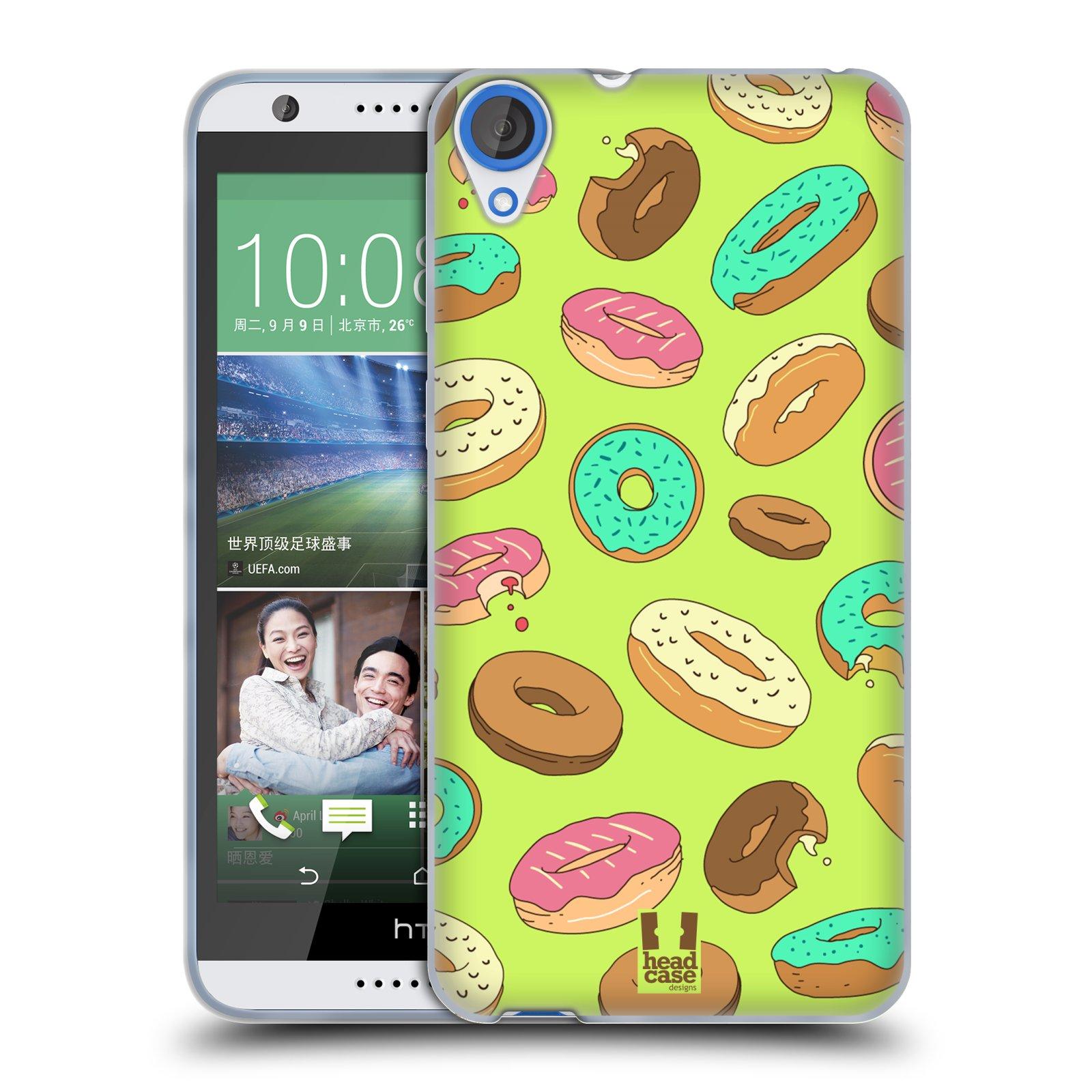 Silikonové pouzdro na mobil HTC Desire 820 HEAD CASE DONUTKY (Silikonový kryt či obal na mobilní telefon HTC Desire 820)