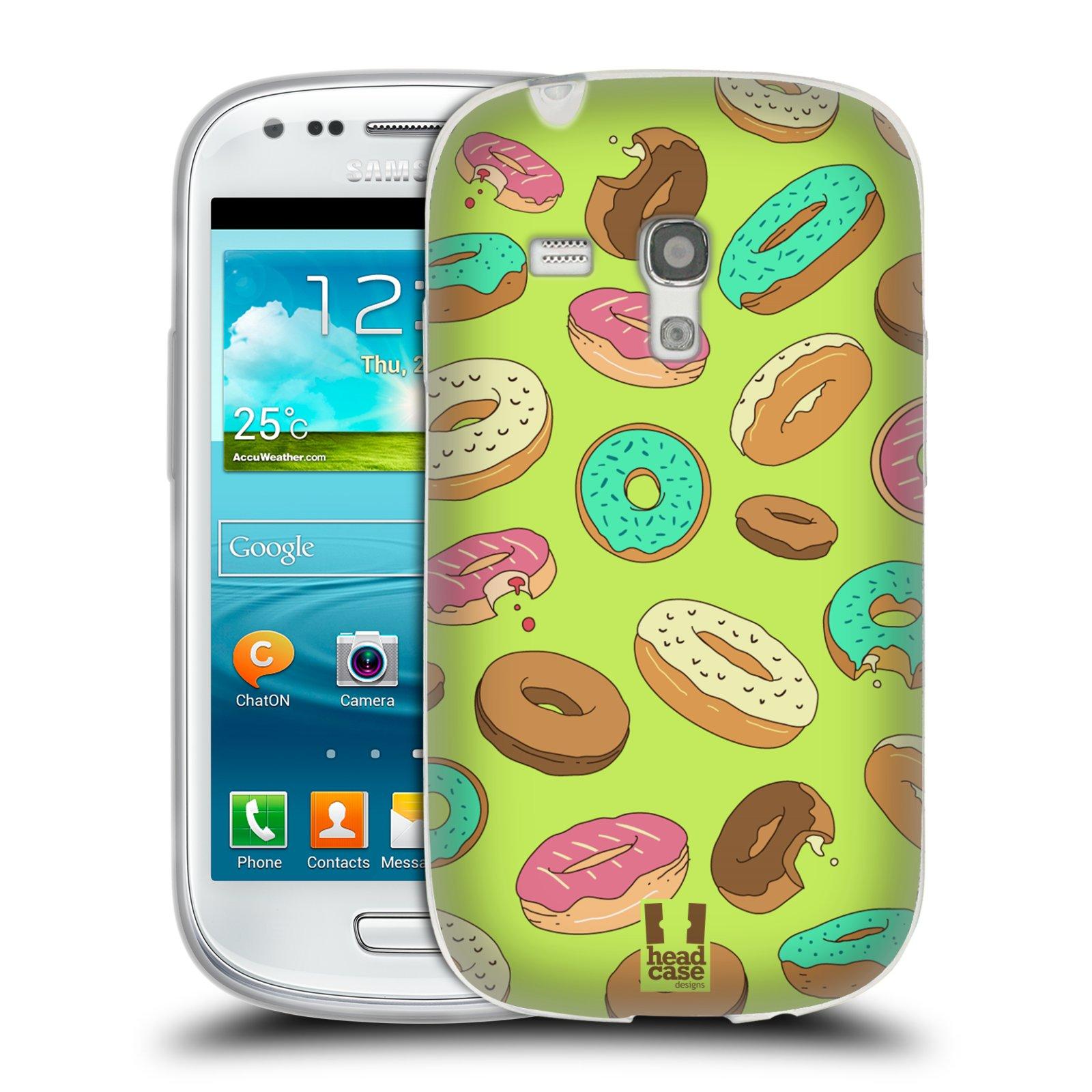Silikonové pouzdro na mobil Samsung Galaxy S III Mini HEAD CASE DONUTKY (Silikonový kryt či obal na mobilní telefon Samsung Galaxy S III Mini GT-i8190)