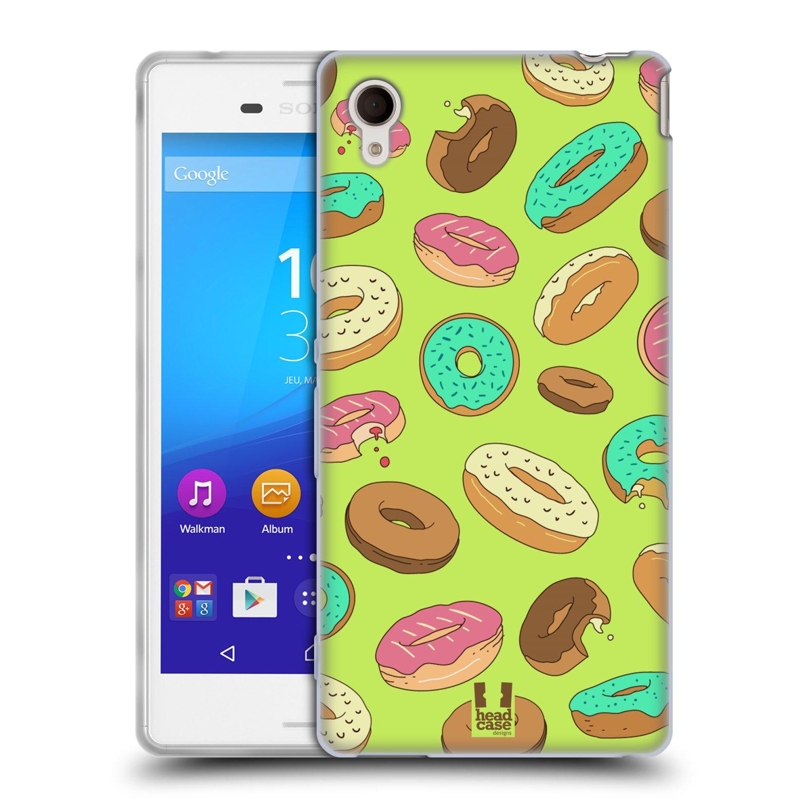Silikonové pouzdro na mobil Sony Xperia M4 Aqua E2303 HEAD CASE DONUTKY (Silikonový kryt či obal na mobilní telefon Sony Xperia M4 Aqua a M4 Aqua Dual SIM)