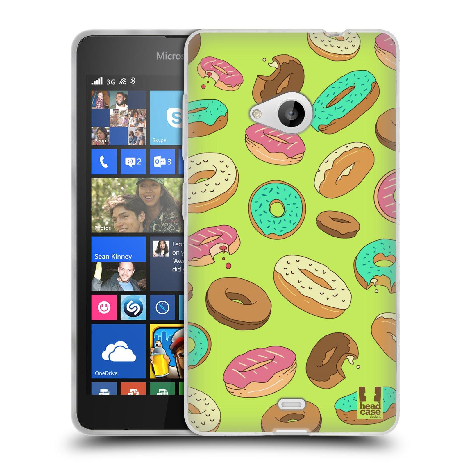 Silikonové pouzdro na mobil Microsoft Lumia 535 HEAD CASE DONUTKY (Silikonový kryt či obal na mobilní telefon Microsoft Lumia 535)