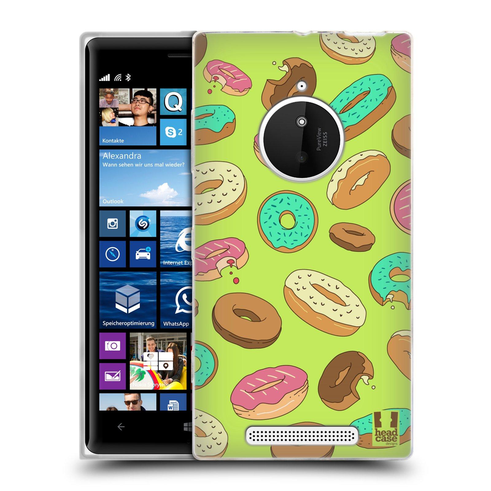 Silikonové pouzdro na mobil Nokia Lumia 830 HEAD CASE DONUTKY (Silikonový kryt či obal na mobilní telefon Nokia Lumia 830)