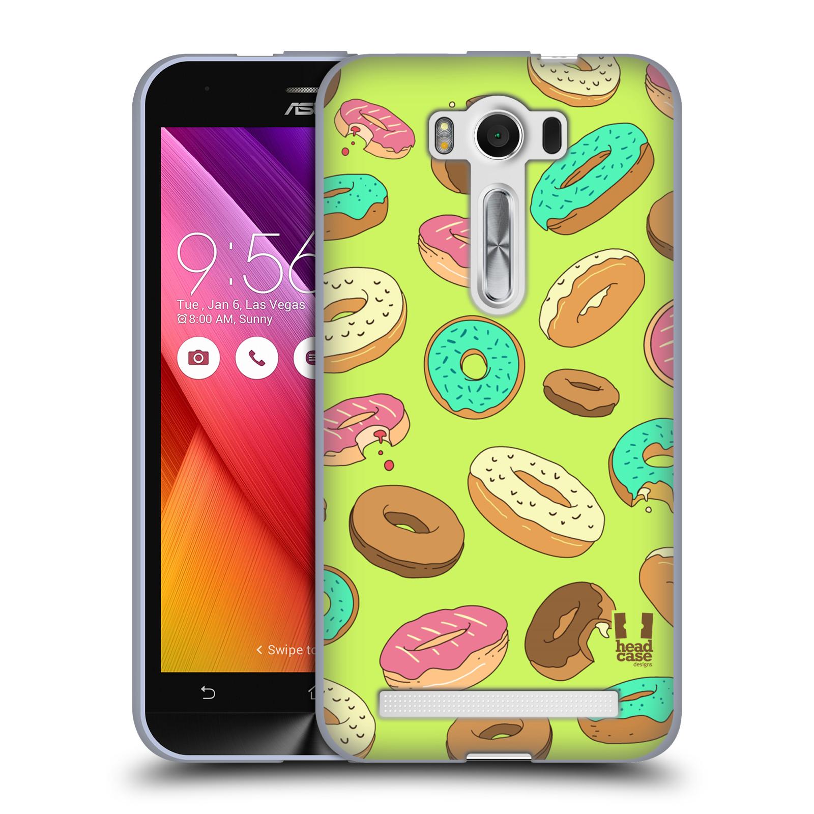 "Silikonové pouzdro na mobil Asus ZenFone 2 Laser ZE500KL HEAD CASE DONUTKY (Silikonový kryt či obal na mobilní telefon Asus ZenFone 2 Laser ZE500KL s 5"" displejem)"