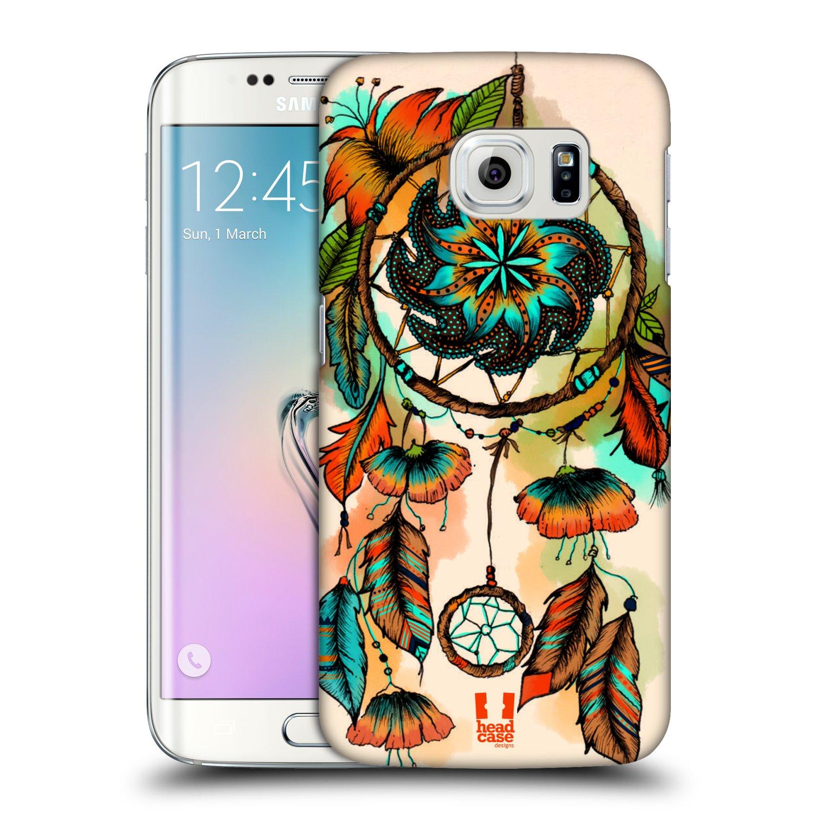 Plastové pouzdro na mobil Samsung Galaxy S6 Edge HEAD CASE BLOOM APRICOT