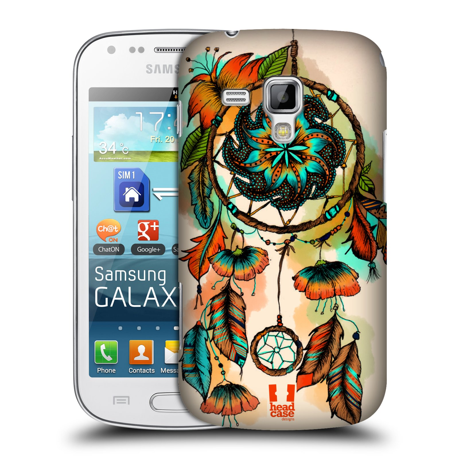 Plastové pouzdro na mobil Samsung Galaxy Trend Plus HEAD CASE BLOOM APRICOT