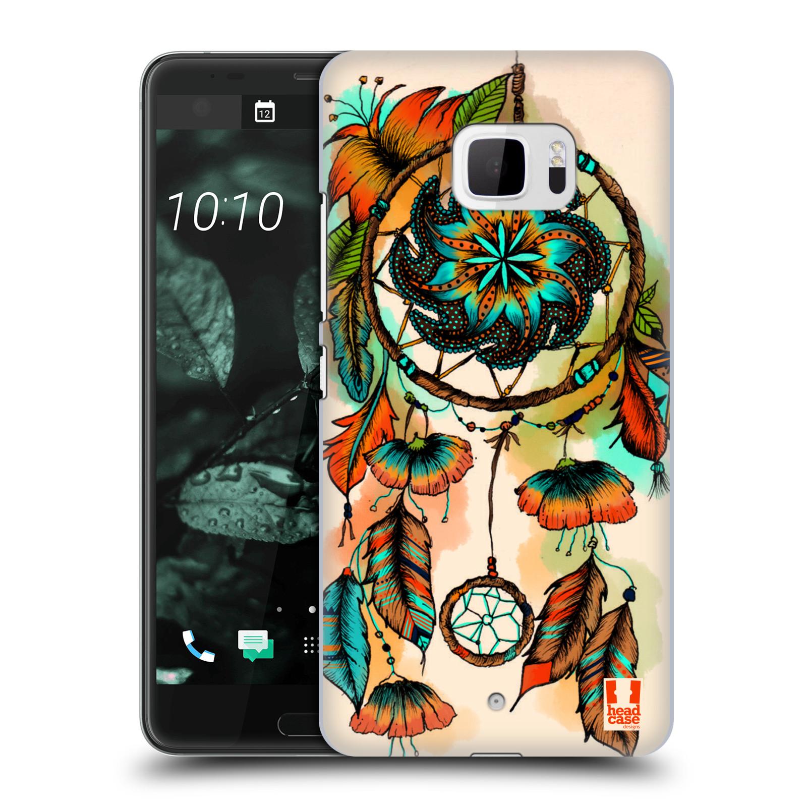 Plastové pouzdro na mobil HTC U Ultra Head Case - BLOOM APRICOT (Plastový kryt či obal na mobilní telefon HTC U Ultra (99HALT015-00))