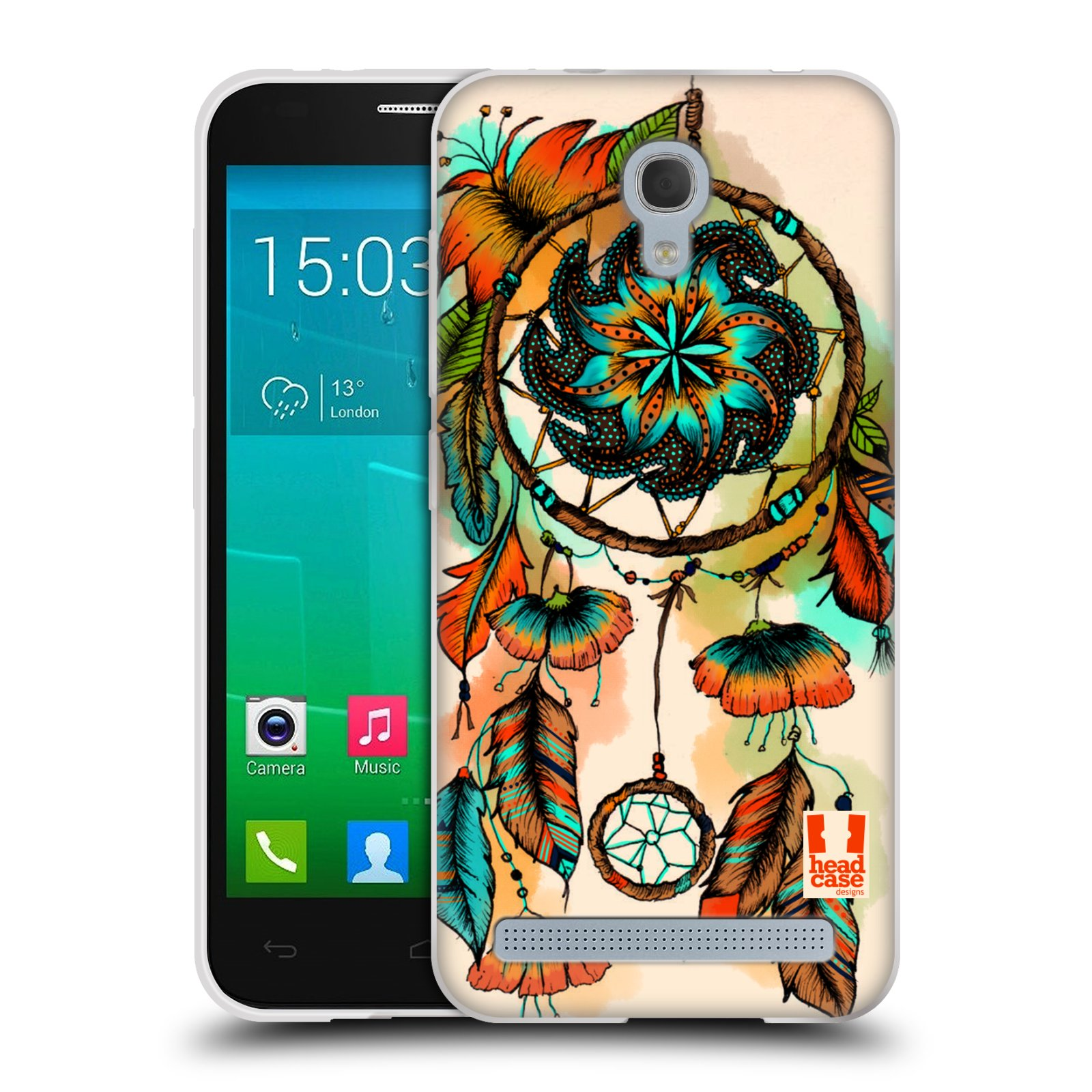 Silikonové pouzdro na mobil Alcatel One Touch Idol 2 Mini S 6036Y HEAD CASE BLOOM APRICOT