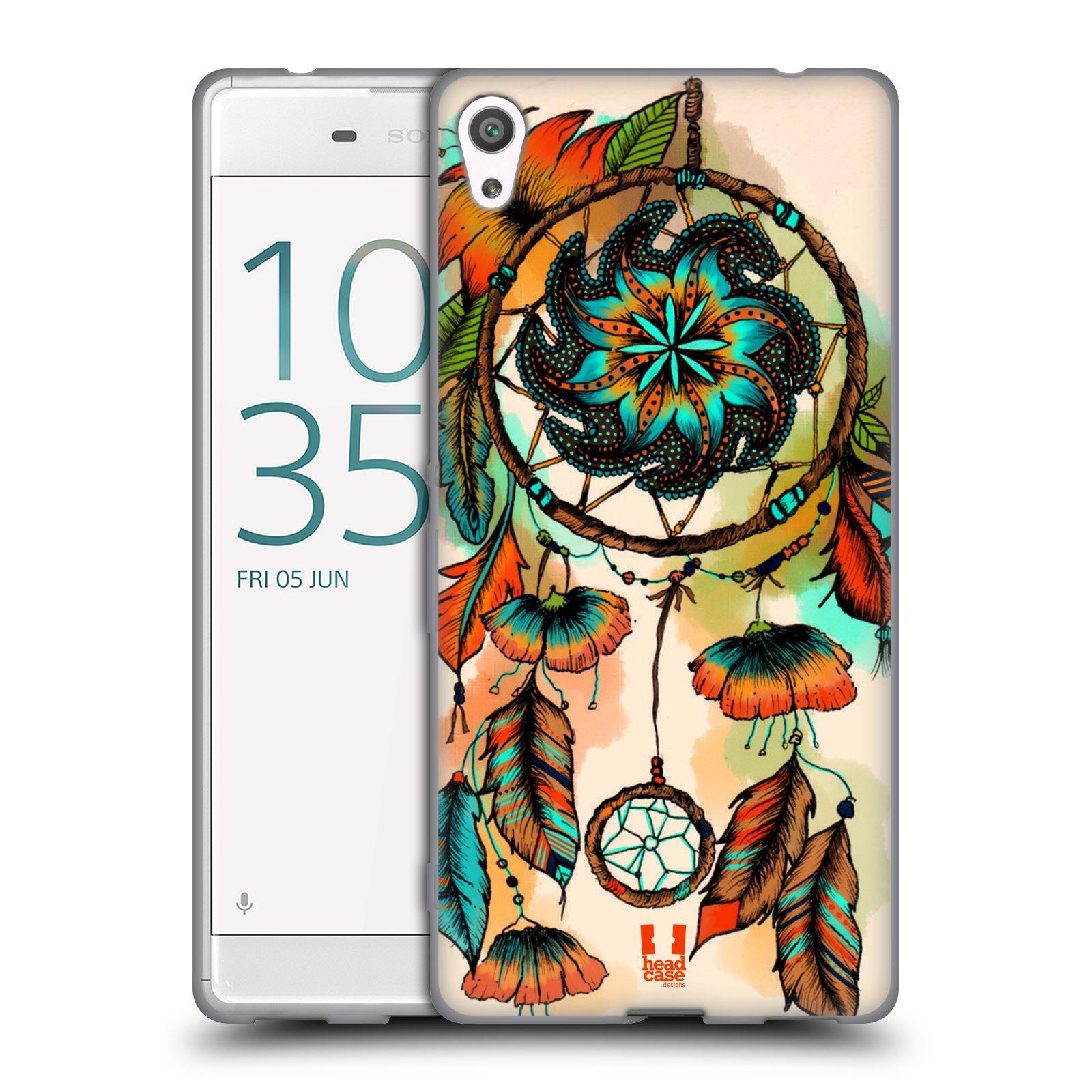 Silikonové pouzdro na mobil Sony Xperia XA Ultra HEAD CASE BLOOM APRICOT