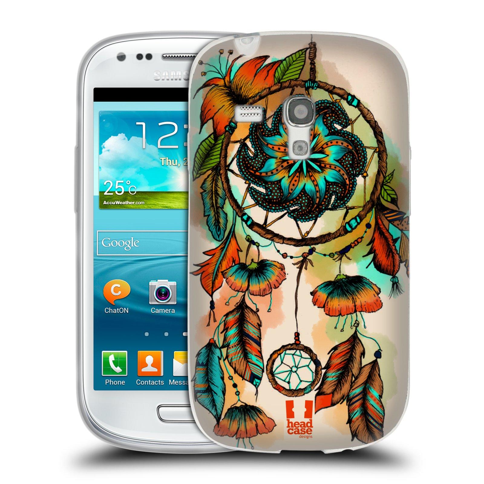 Silikonové pouzdro na mobil Samsung Galaxy S III Mini HEAD CASE BLOOM APRICOT (Silikonový kryt či obal na mobilní telefon Samsung Galaxy S III Mini GT-i8190)