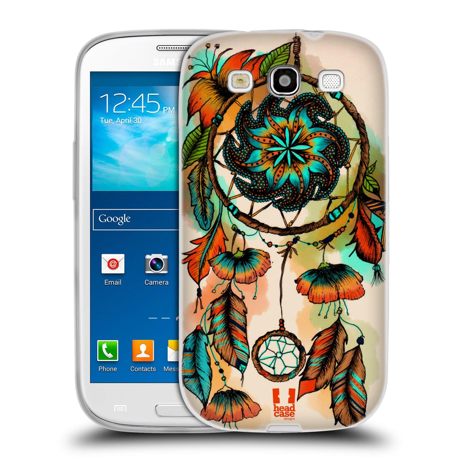 Silikonové pouzdro na mobil Samsung Galaxy S3 Neo HEAD CASE BLOOM APRICOT (Silikonový kryt či obal na mobilní telefon Samsung Galaxy S3 Neo GT-i9301i)
