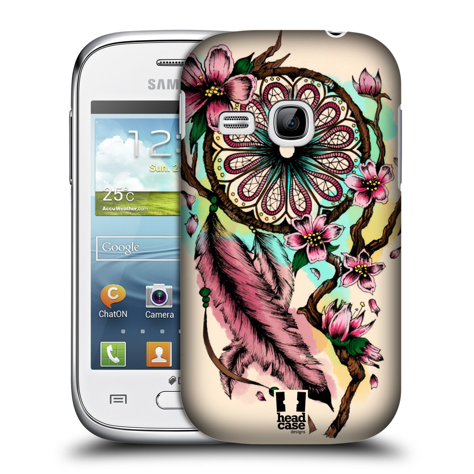 Plastové pouzdro na mobil Samsung Galaxy Young HEAD CASE BLOOM BLOSSOMS