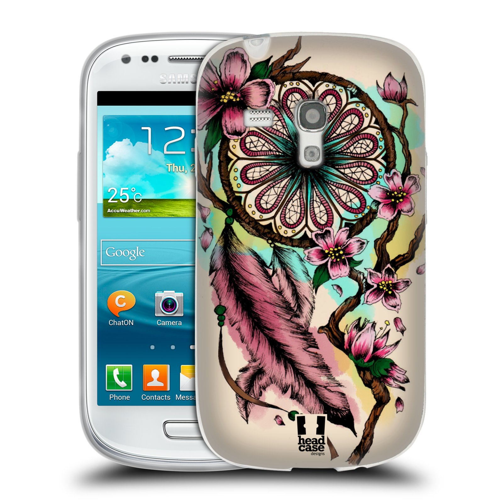 Silikonové pouzdro na mobil Samsung Galaxy S III Mini HEAD CASE BLOOM BLOSSOMS (Silikonový kryt či obal na mobilní telefon Samsung Galaxy S III Mini GT-i8190)