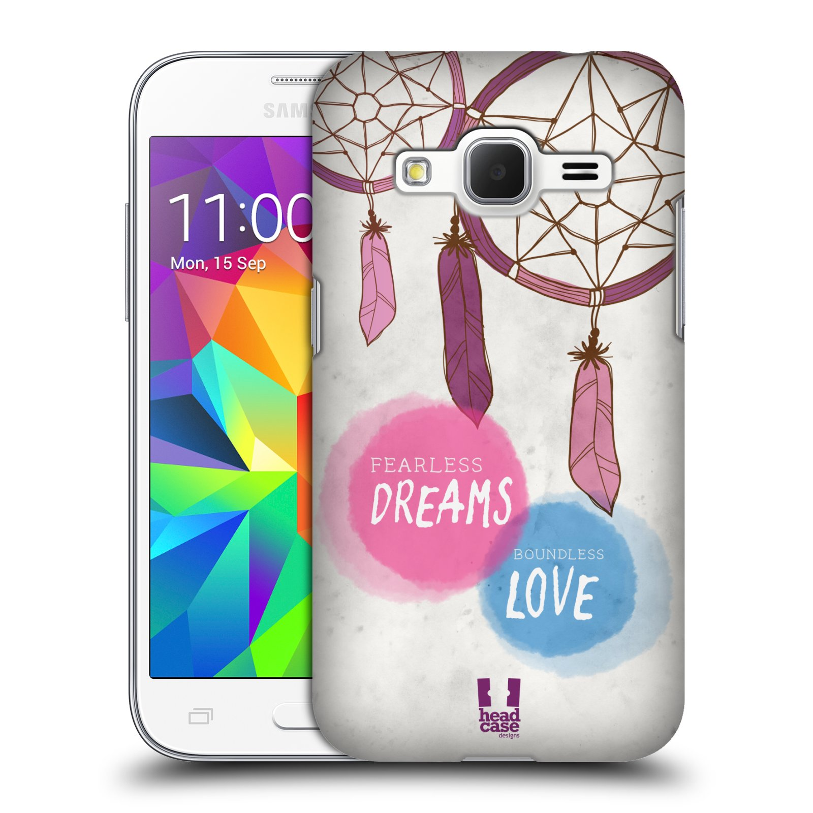 Plastové pouzdro na mobil Samsung Galaxy Core Prime VE HEAD CASE LAPAČ FEARLESS (Kryt či obal na mobilní telefon Samsung Galaxy Core Prime LTE VE SM-G361F)
