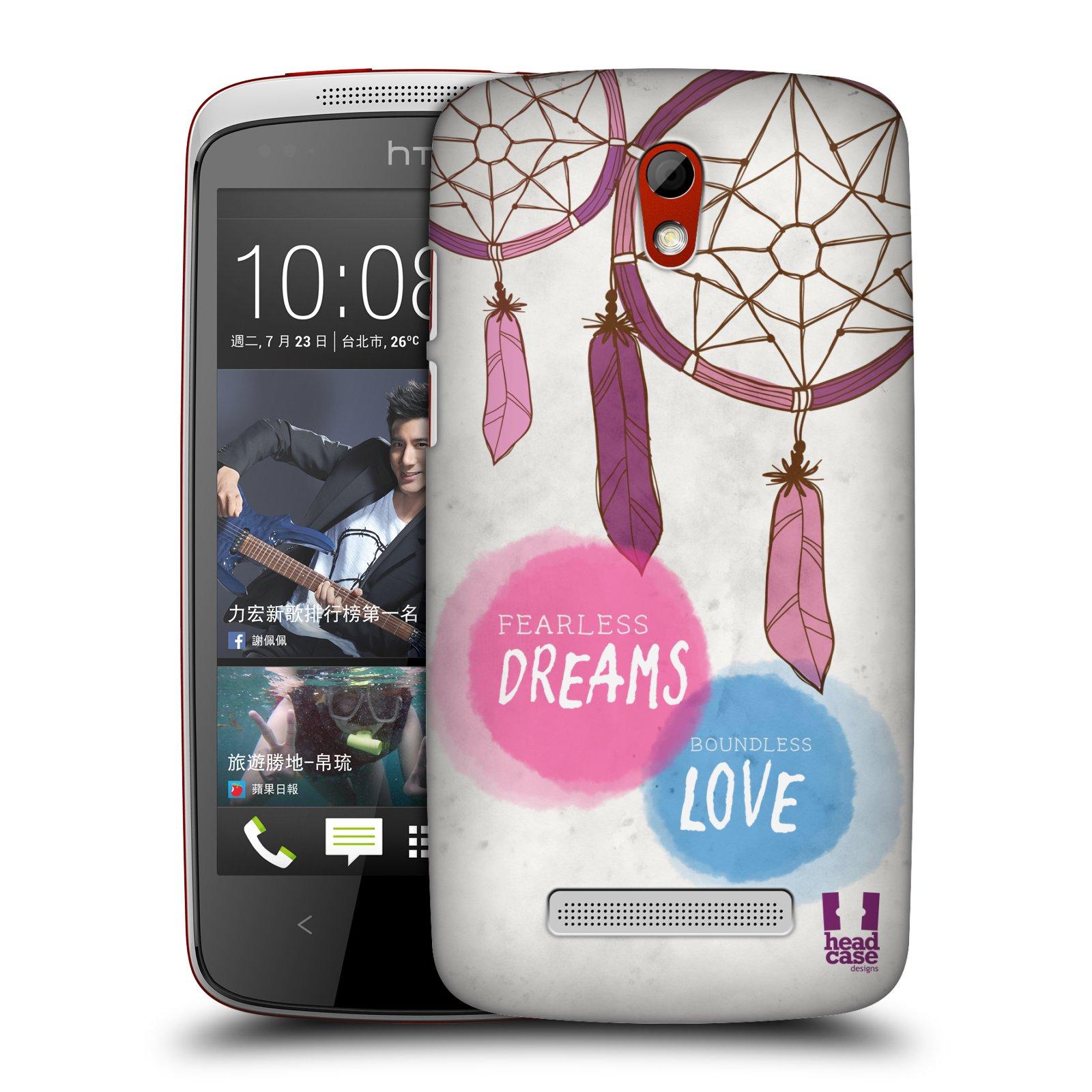 Plastové pouzdro na mobil HTC Desire 500 HEAD CASE LAPAČ FEARLESS (Kryt či obal na mobilní telefon HTC Desire 500)